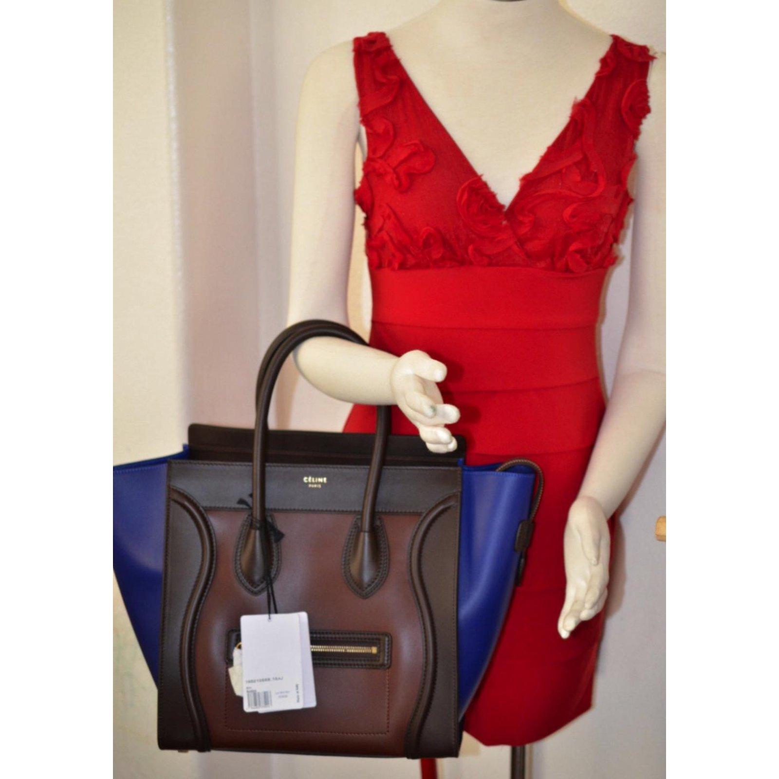 a665943e40c6 Sacs à main Céline Luggage Cuir Multicolore ref.65375 - Joli Closet