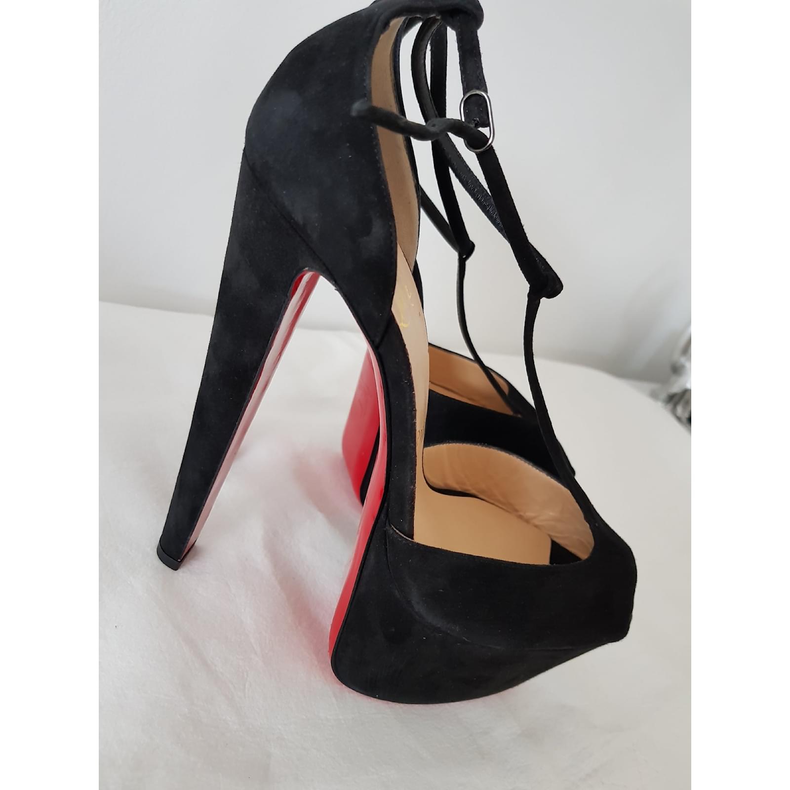 outlet store 0803a 1c5d6 Christian Louboutin Alta Poppin platform shoes uk 6 39