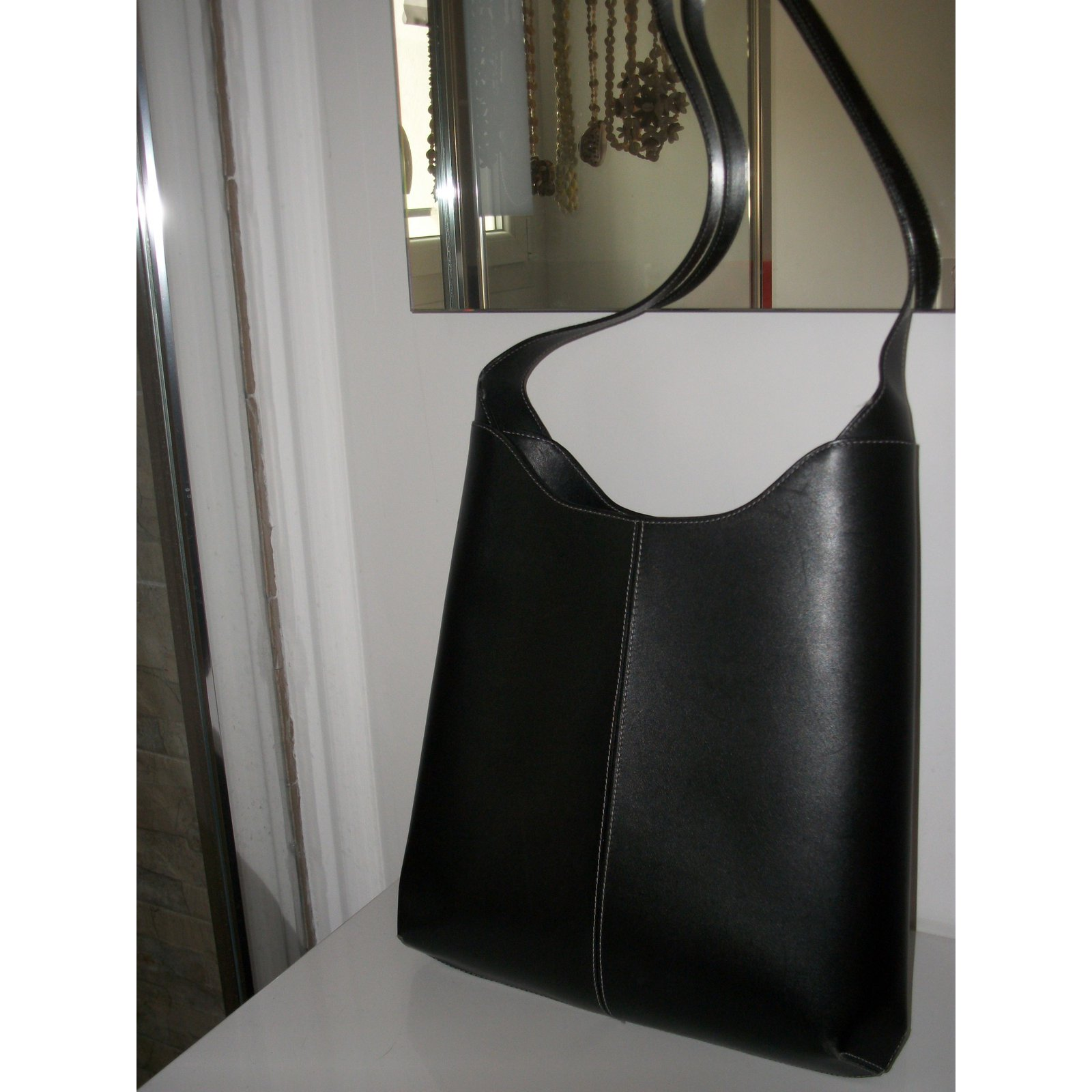 eff2e00b18ee Facebook · Pin This. Lancel Handbags Handbags Leather Black ref.65715
