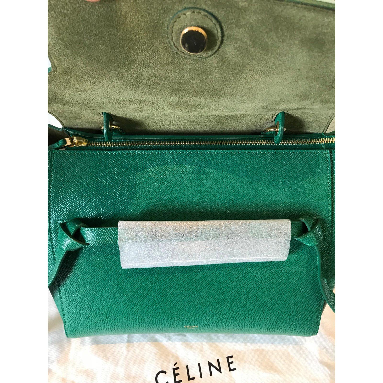 Sacs à main Céline mini belt green Cuir Vert ref.65981 - Joli Closet 3f4f581fbd
