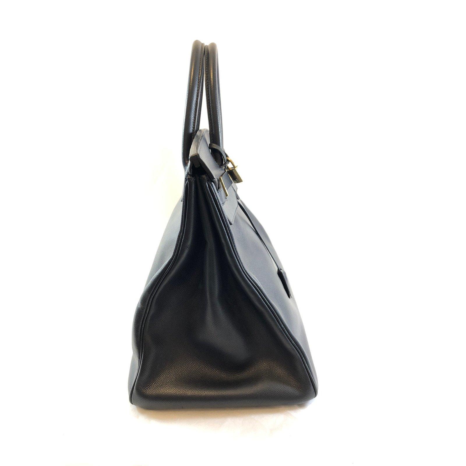 06f4c0a9adc Hermès Birkin 40 Handbags Leather Navy blue ref.66011 - Joli Closet