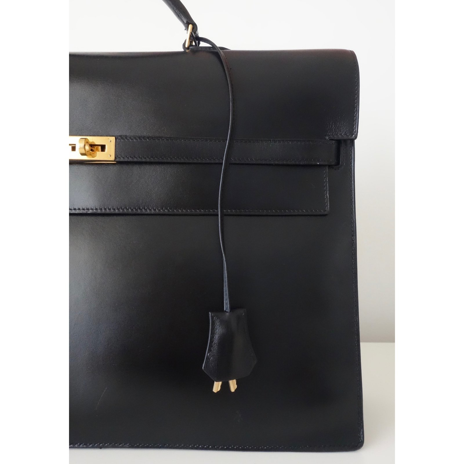 15b340d0a57 uk sacs à main hermès sac a depeches kelly cuir noir ref.66561 joli closet