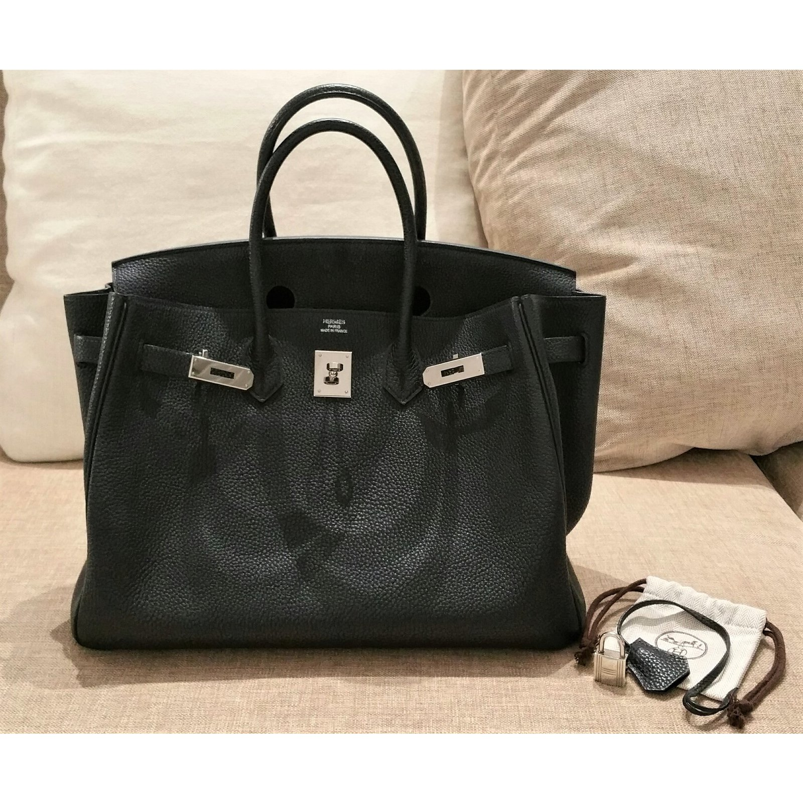 2197faf47c Hermès Birkin 35 Black Togo Leather PHW Handbags Leather Black ref ...
