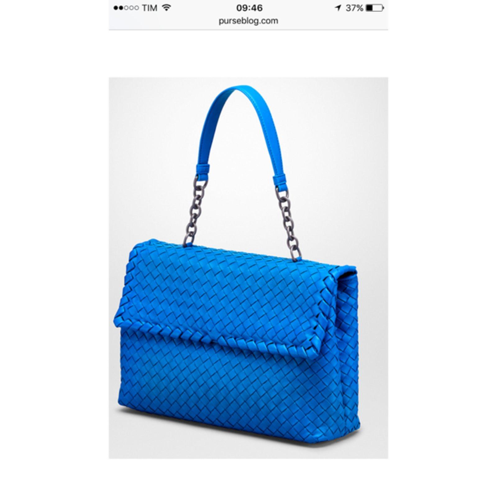 f9e71bcfe3aee Bottega Veneta Olimpia Bag Handbags Leather Blue ref.67358 - Joli Closet