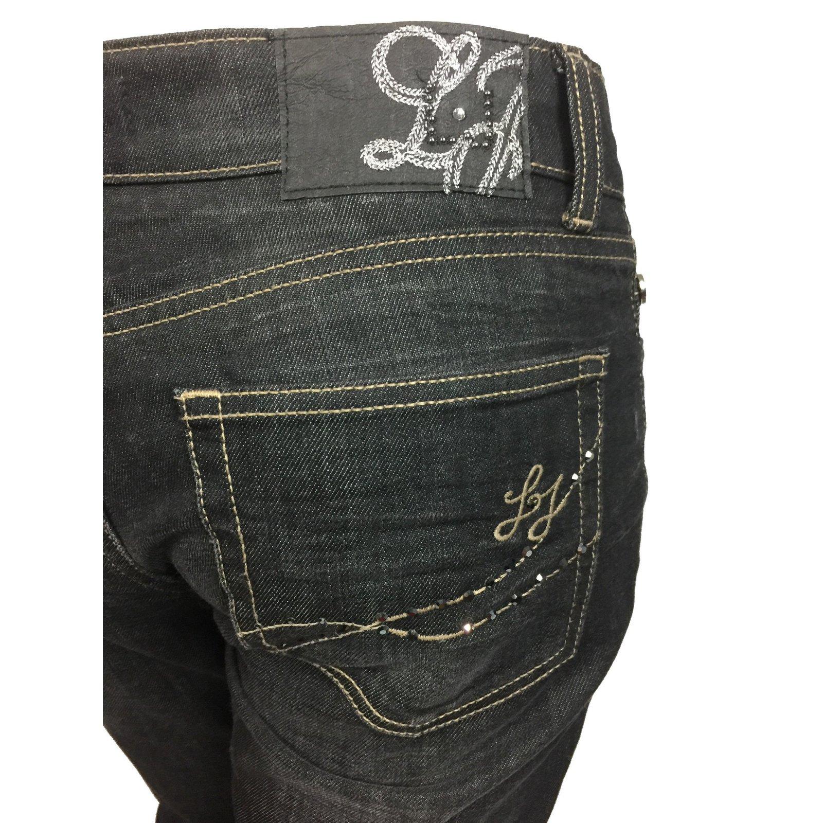 a95083fb6cd Liu.Jo Vintage line jeans Jeans Cotton Black ref.67669 - Joli Closet