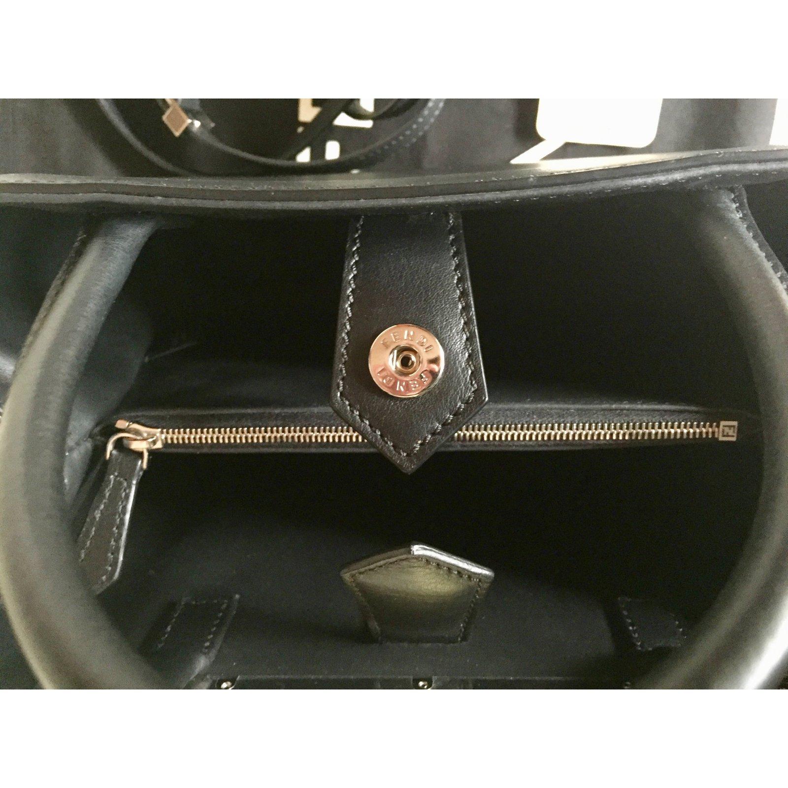 Facebook · Pin This. Fendi Fendi Petite 2jours Handbags Leather Black ref. 67920 bb3740b5f98fb