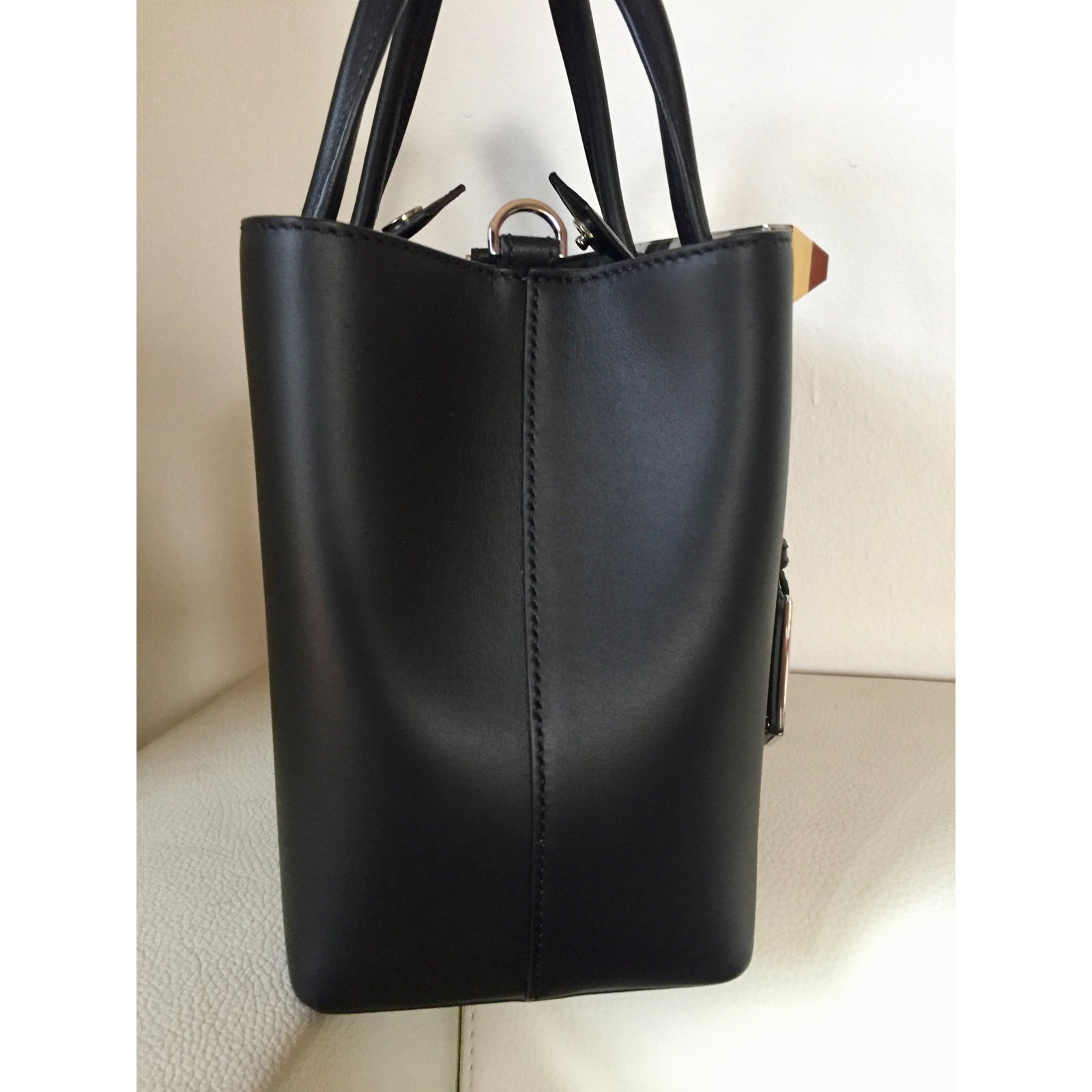 Fendi Fendi Petite 2jours Handbags Leather Black ref.67920 - Joli Closet 58aa2e3978c97