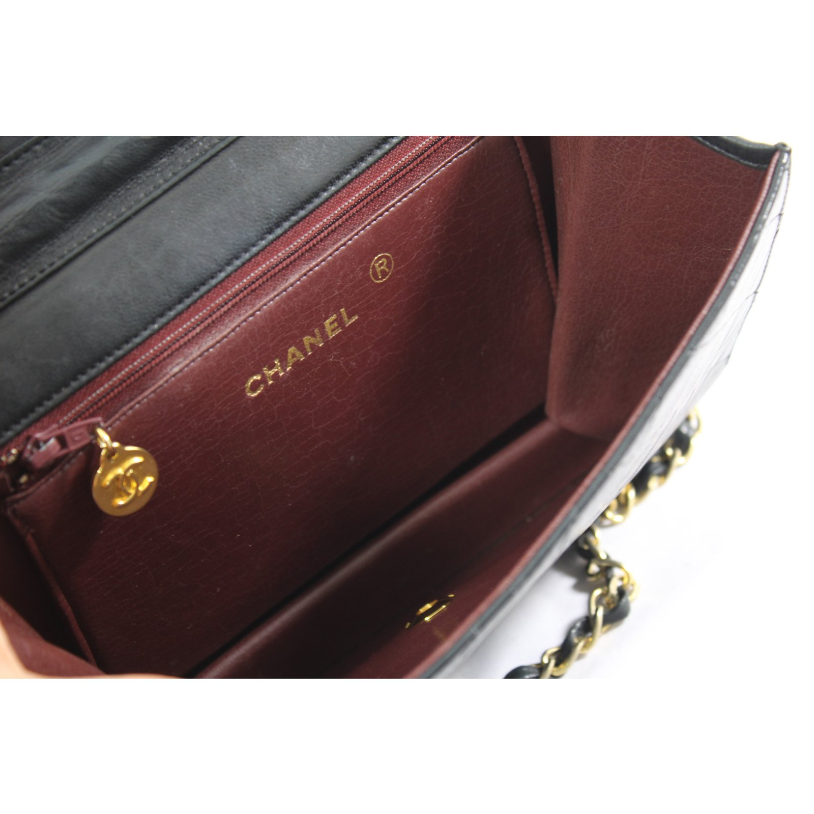 Facebook · Pin This. Chanel mademoiselle Handbags Leather Black ref.68177 b6d3e2756ed3e
