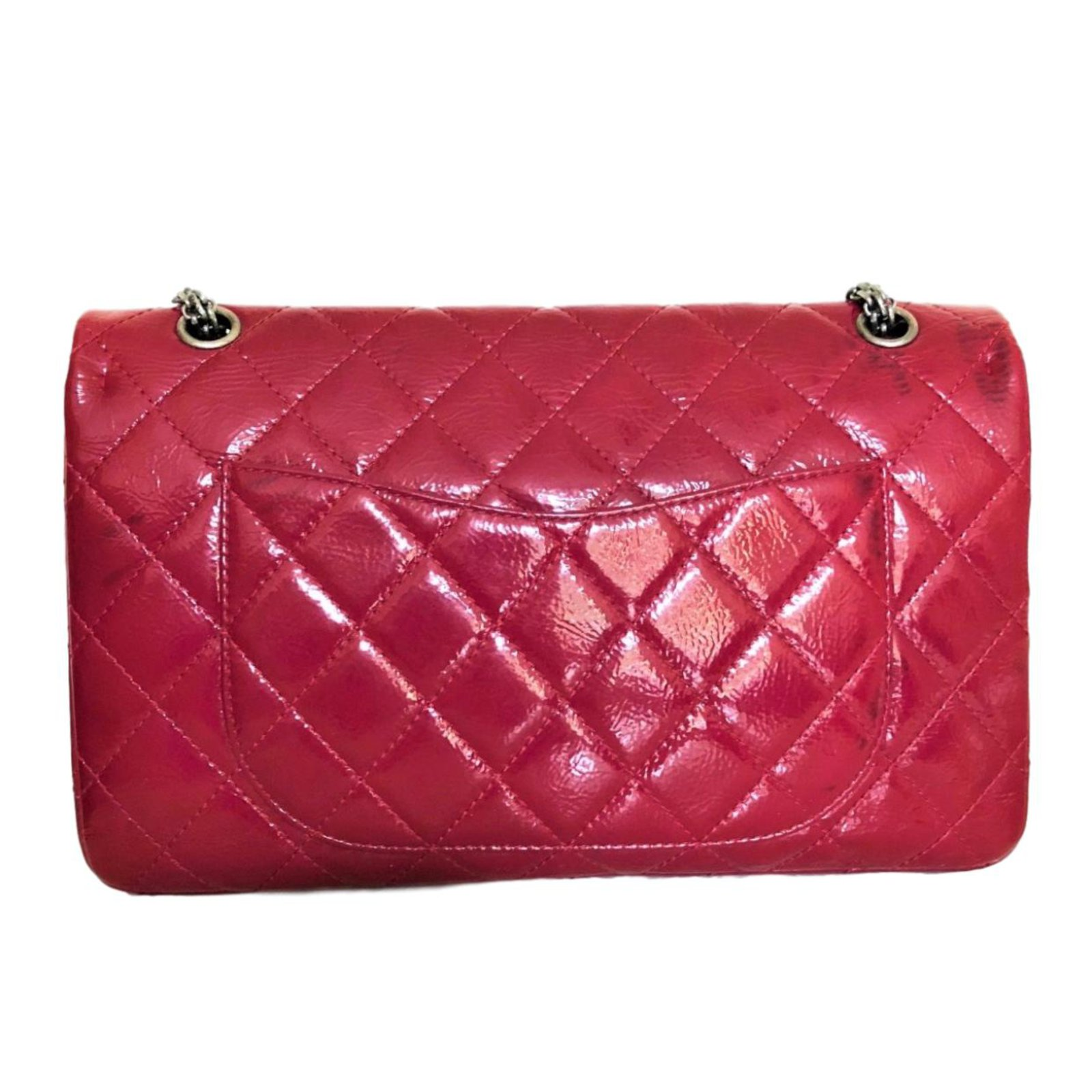 348f9b6cc473 Chanel 2.55 Handbags Patent leather Red ref.68440 - Joli Closet
