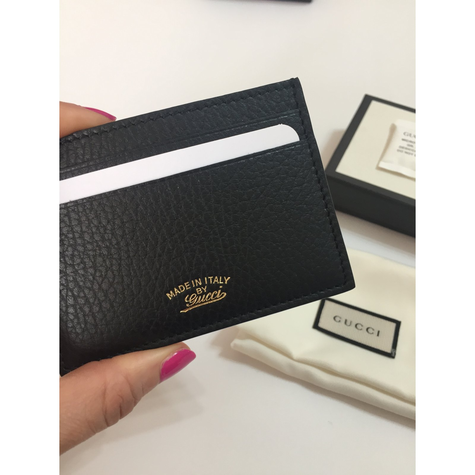 1802a689493 Gucci Card holder Purses