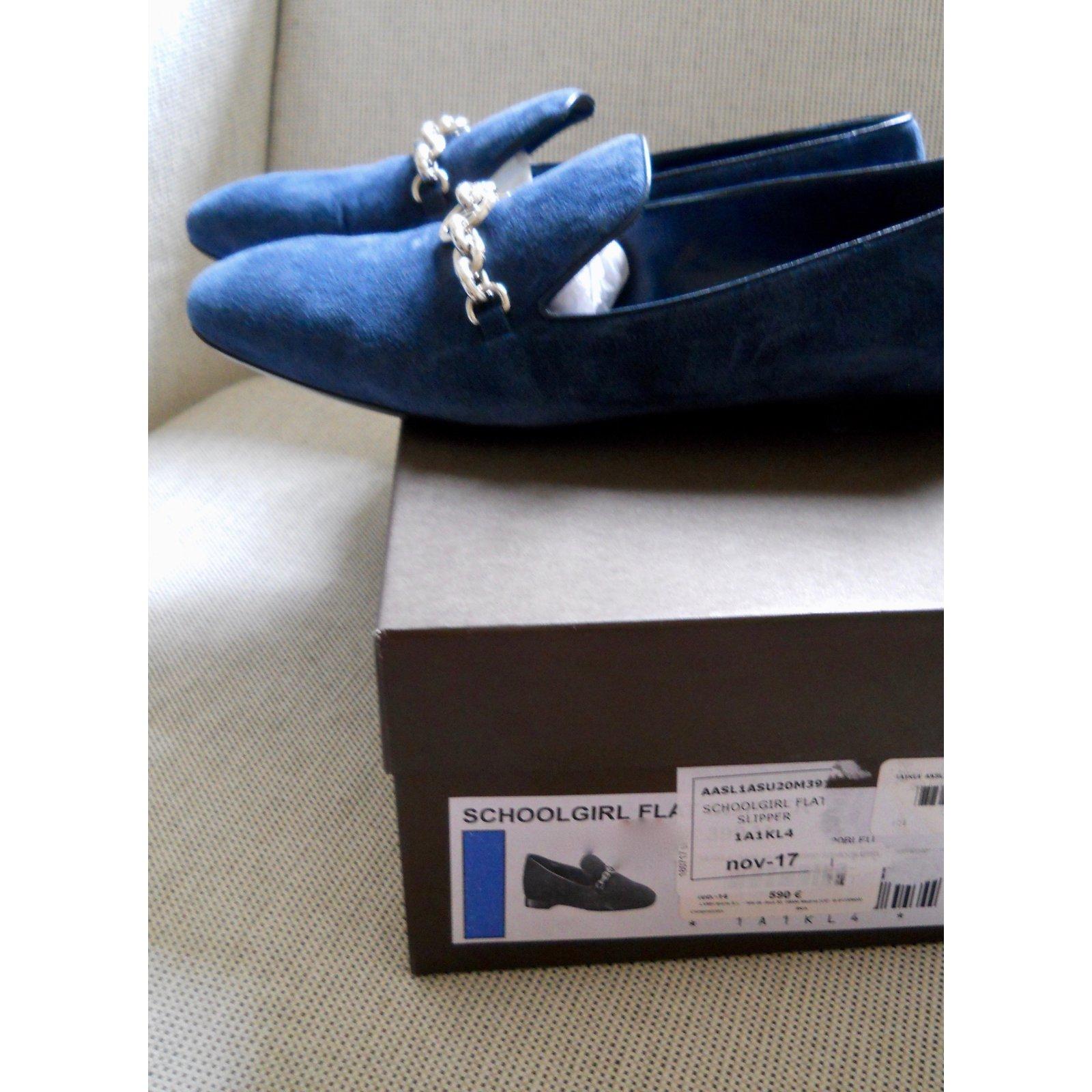 e21f1e30c9c9 Louis Vuitton Moccasins Flats Deerskin Blue