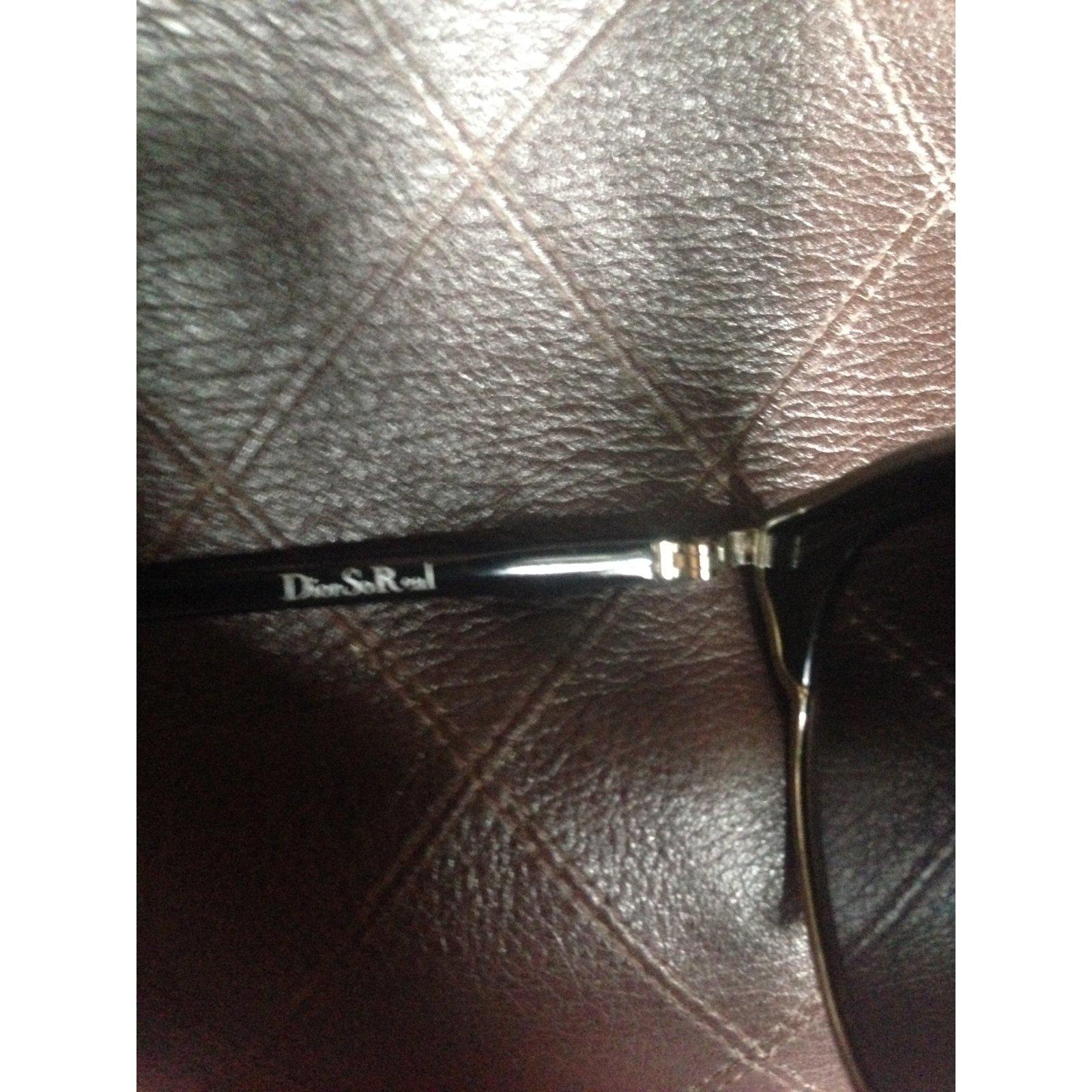 6583a7a688b Christian Dior Glasses DIOR SO REAL black and silver Sunglasses Silver-plated  Black ref.69091 - Joli Closet