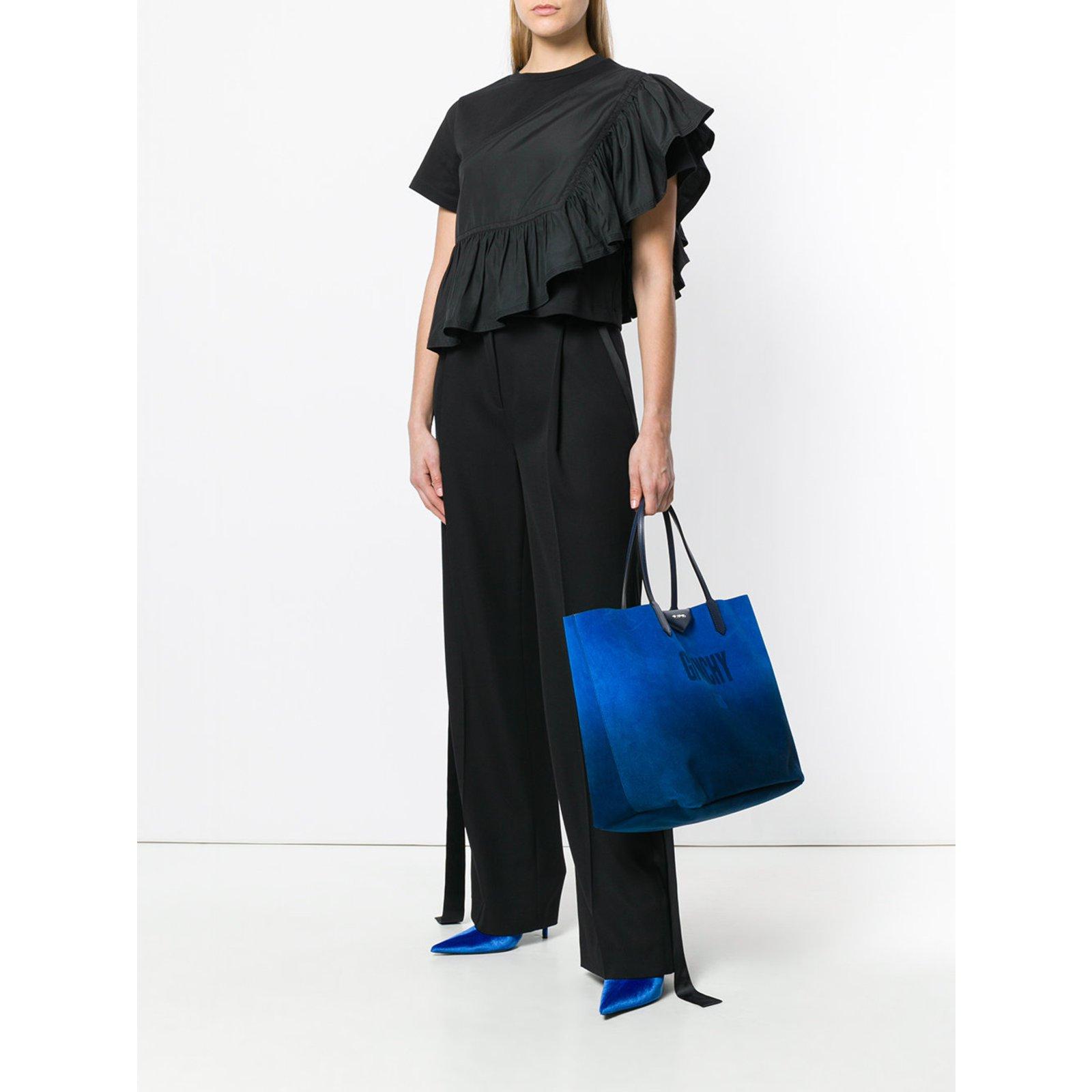 Antigona bleu Reversible Cabas Givenchy Sacs Ref Main À Argenté Cuir qvwf6vIOxT