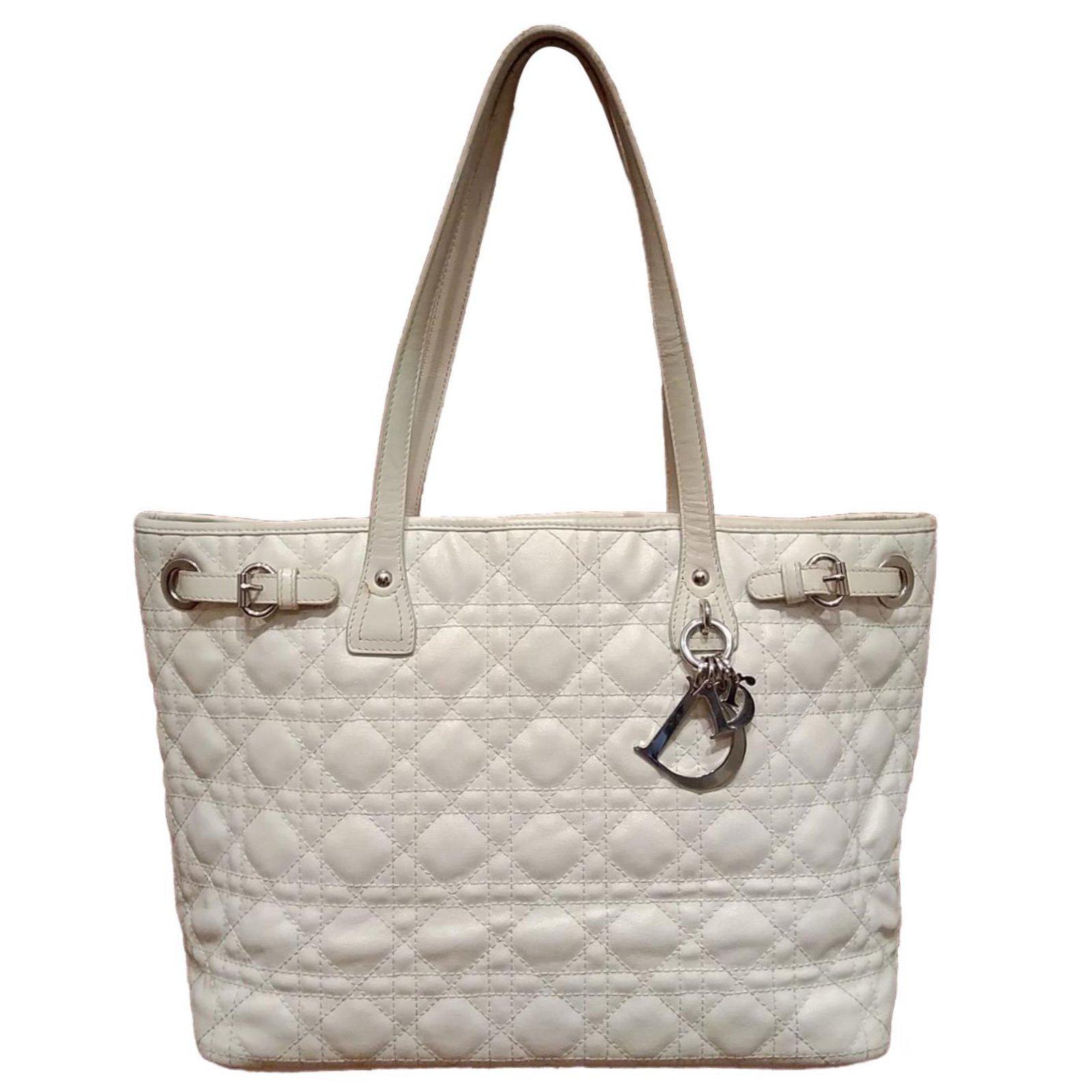 50ec692a232 Christian Dior Panarea Totes Cloth White ref.69644 - Joli Closet