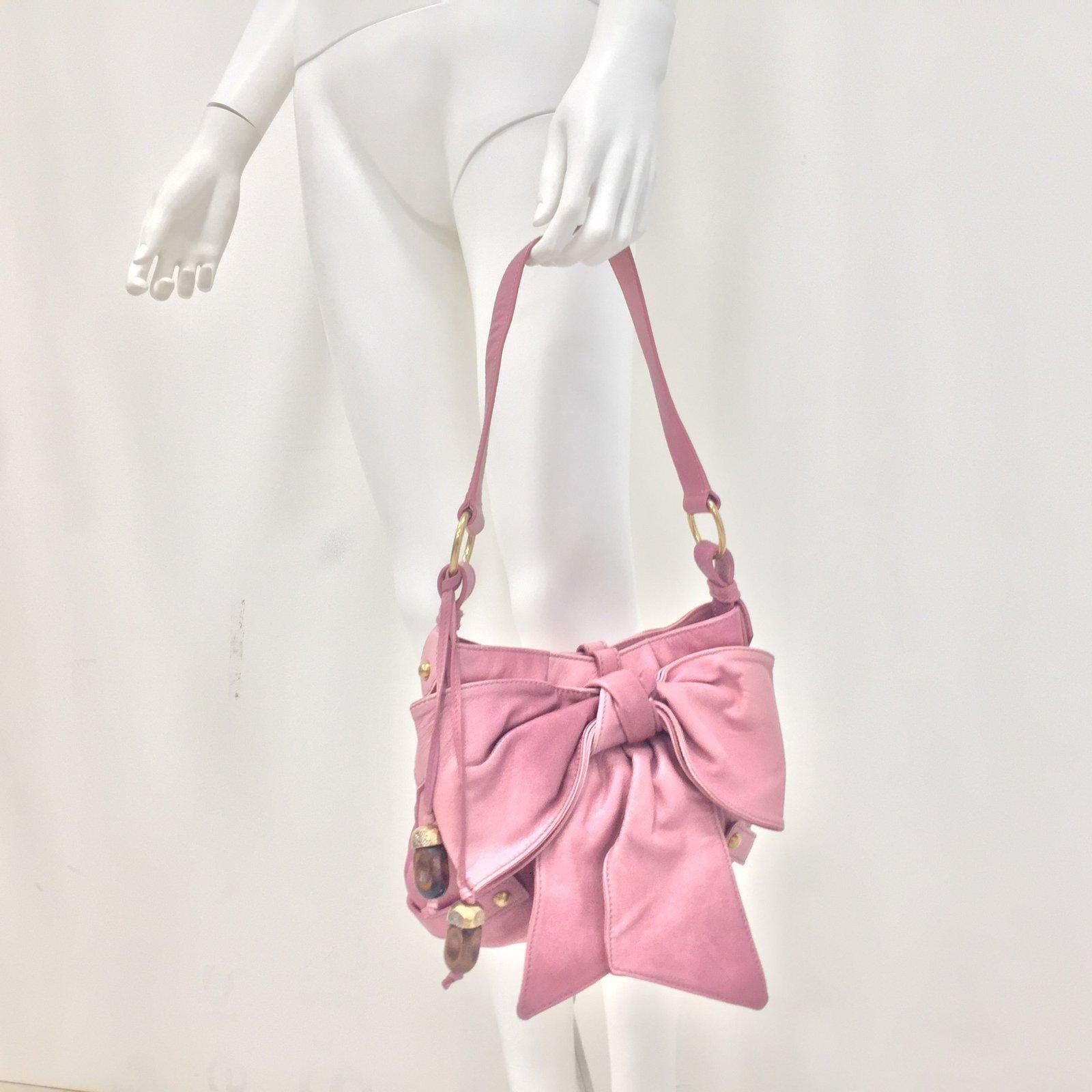 Facebook · Pin This. Yves Saint Laurent Handbag Handbags Leather Pink ref. 69657 470bc9db1d