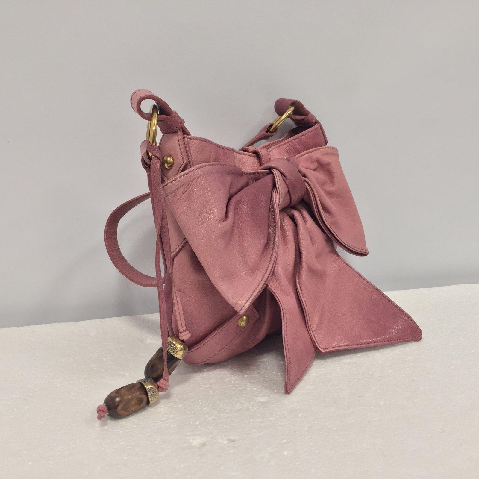 Sacs à main Yves Saint Laurent Sac à main Cuir Rose ref.69657 - Joli Closet b7e438067e