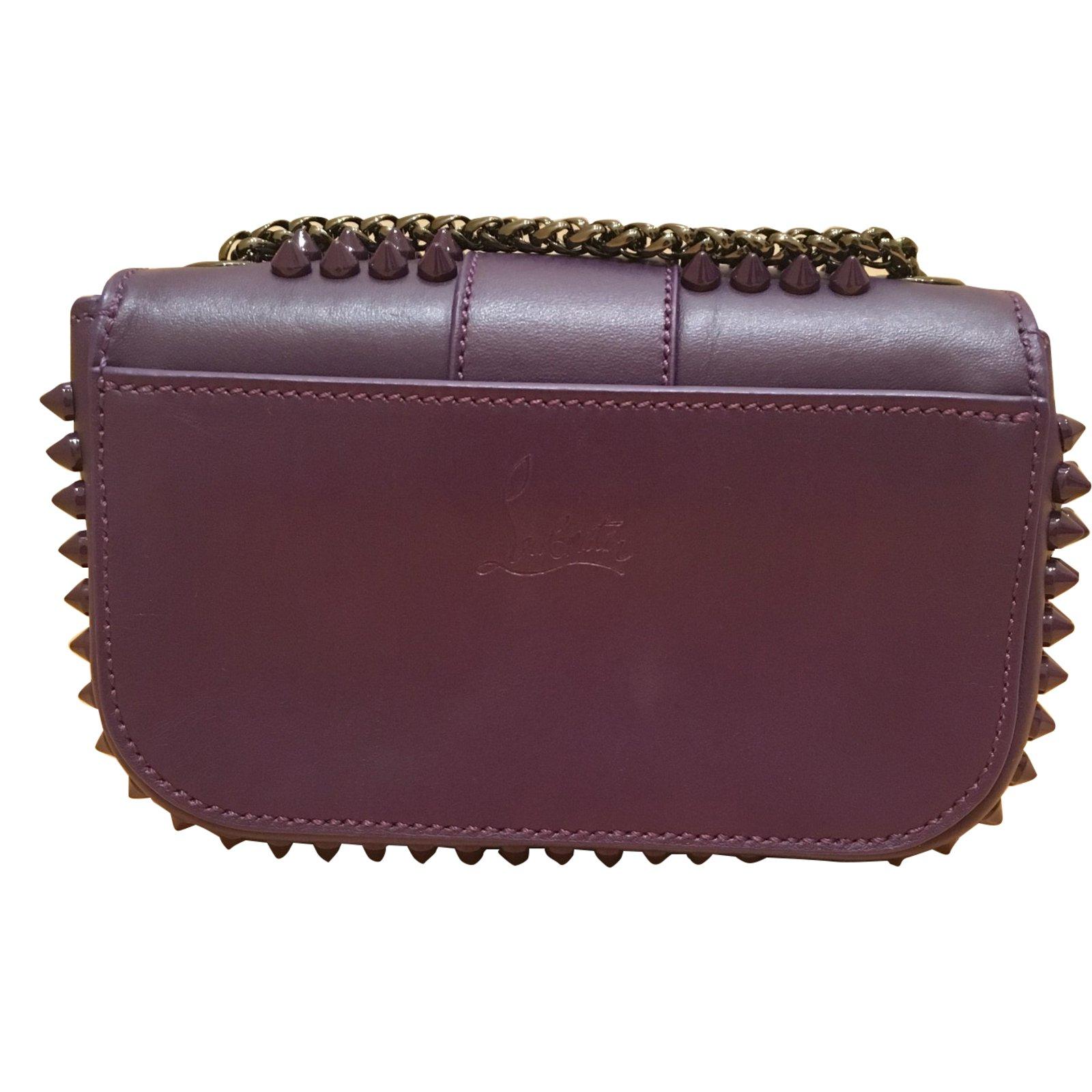 28b21663ae1e Christian Louboutin Sweet Charity Baby Clutch bags Leather Purple ref.70089  - Joli Closet