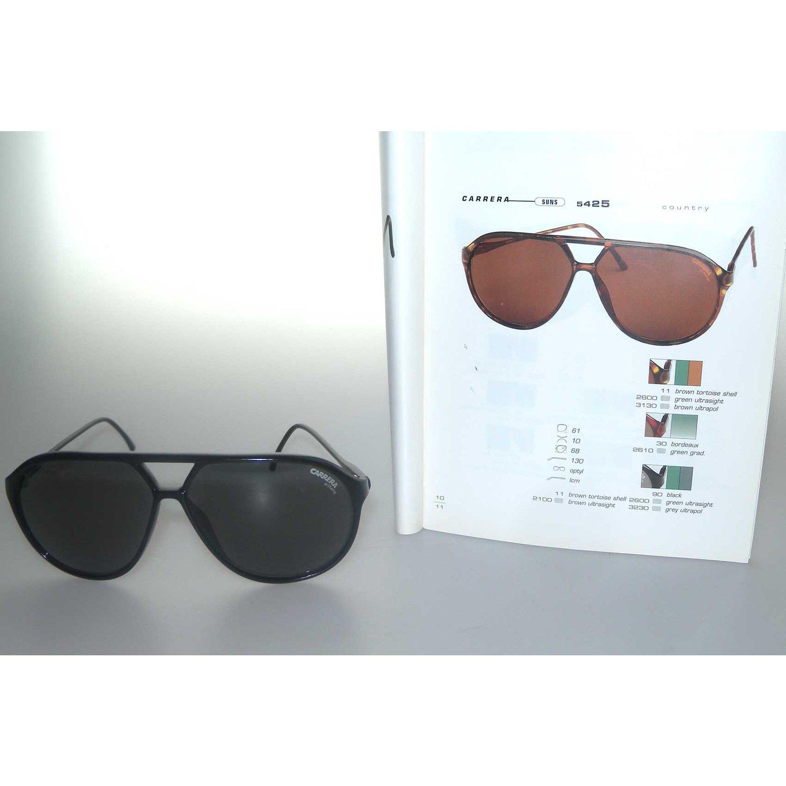 07ef6dfd6fc5a Carrera Aviateur Country collection 95 96 Sunglasses Metal Black ref.70200  - Joli Closet