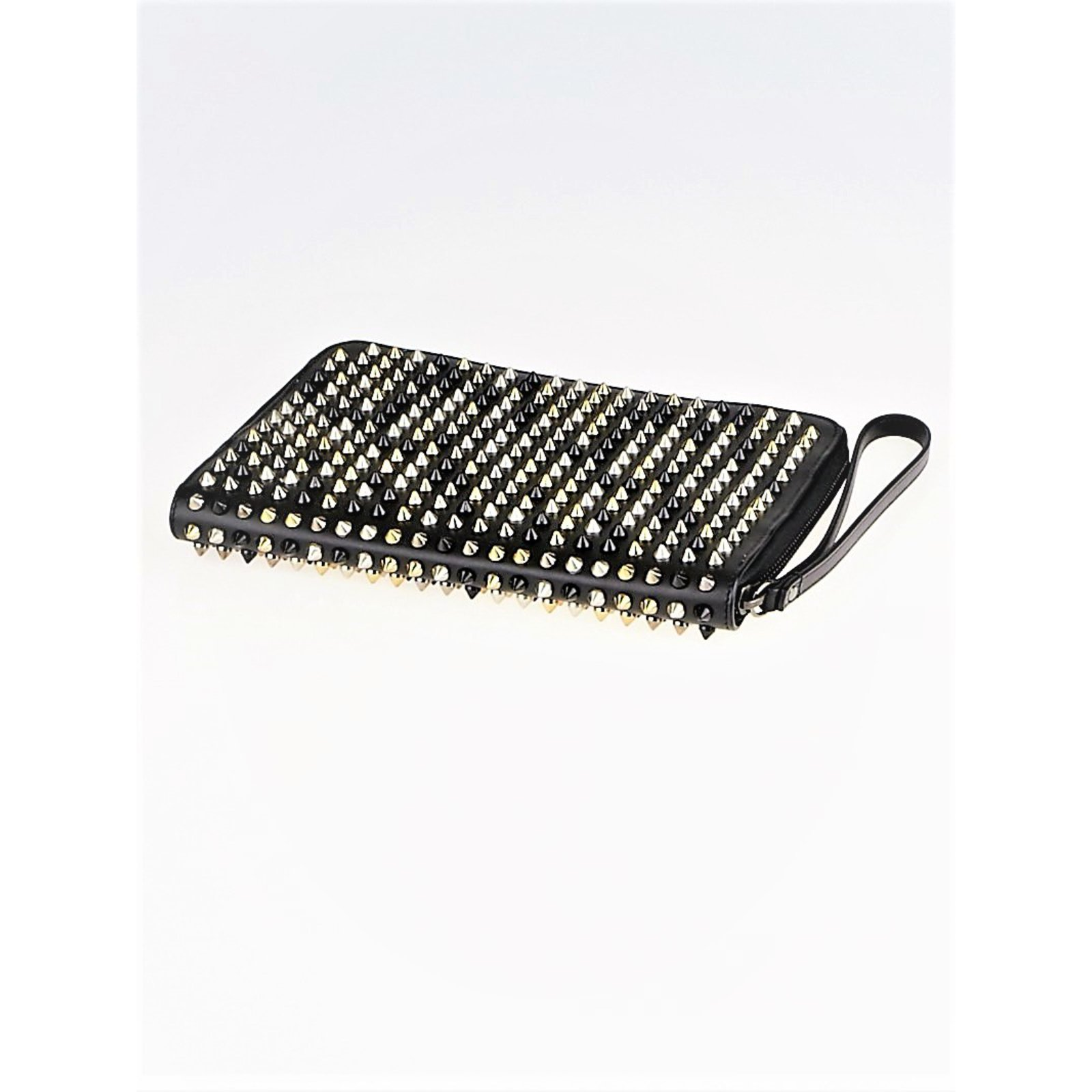 94a92f962748 Christian Louboutin Clutch iPad Case Clutch bags Leather Black ref.70466 -  Joli Closet