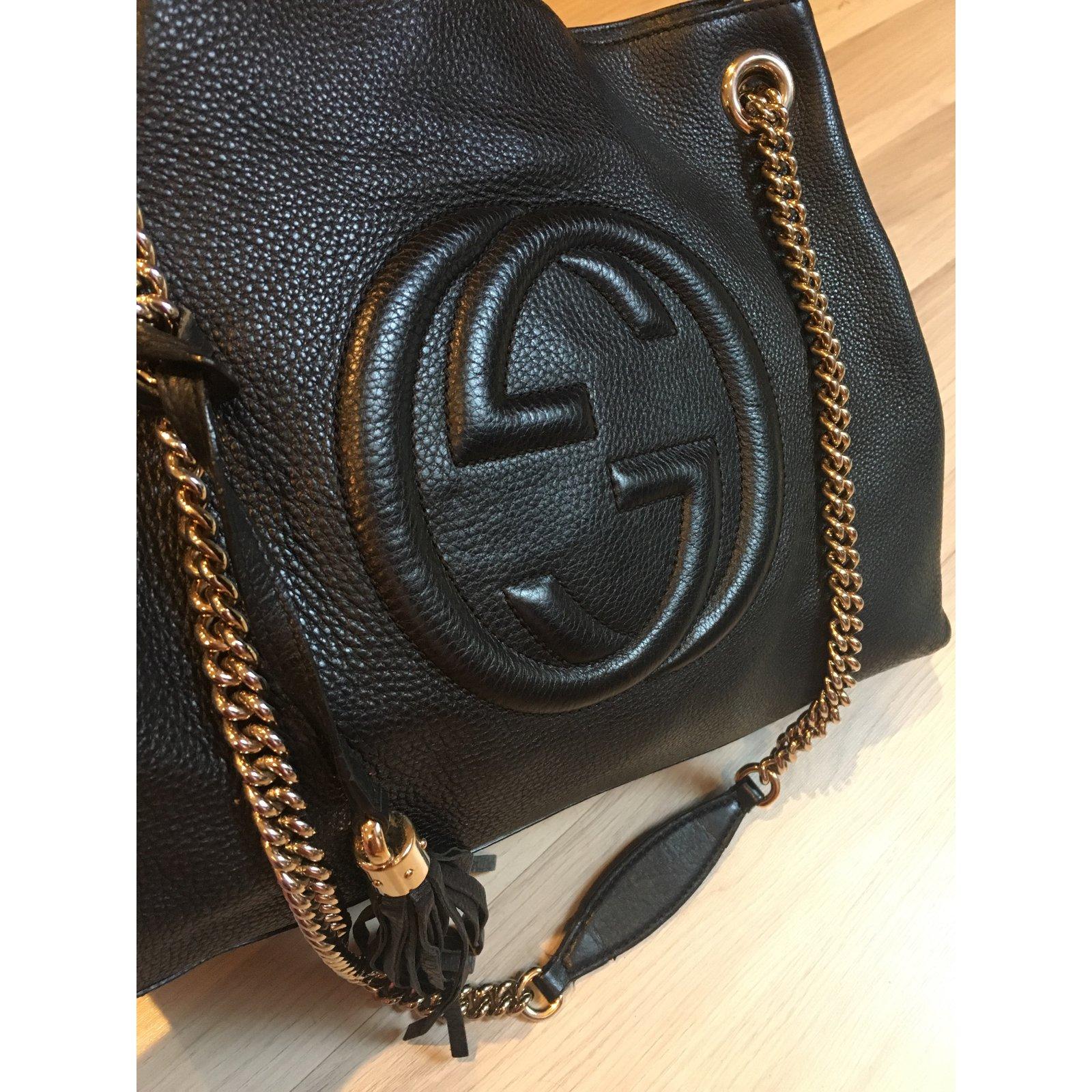 cfd3943f0f02 Gucci Soho Bag Handbags Leather Black ref.70962 - Joli Closet