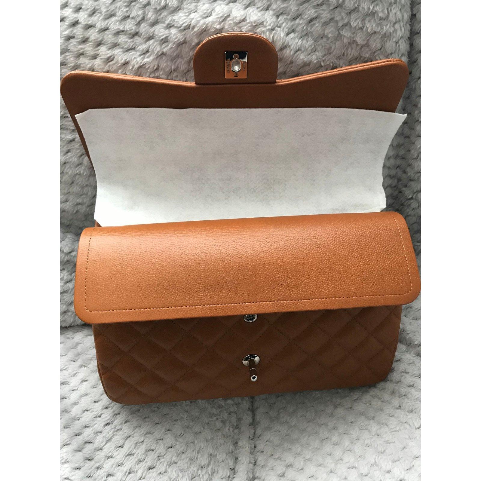 f63ddfbd9788 Chanel Chanel Jumbo Timeless Classic lined Flap Bag - Caviar leather - Rich  Caramel Handbags Leather Caramel ref.71926 - Joli Closet