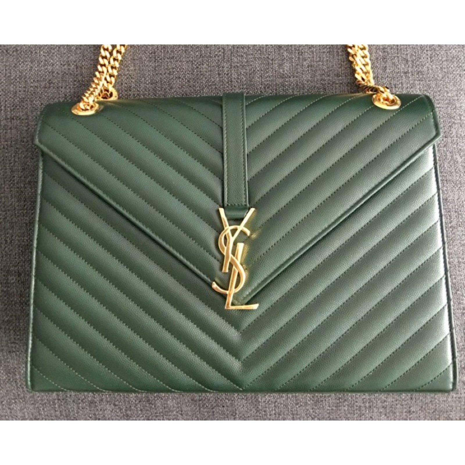 cde6ac5345 Saint Laurent Bag Handbags Leather Green ref.72018 - Joli Closet