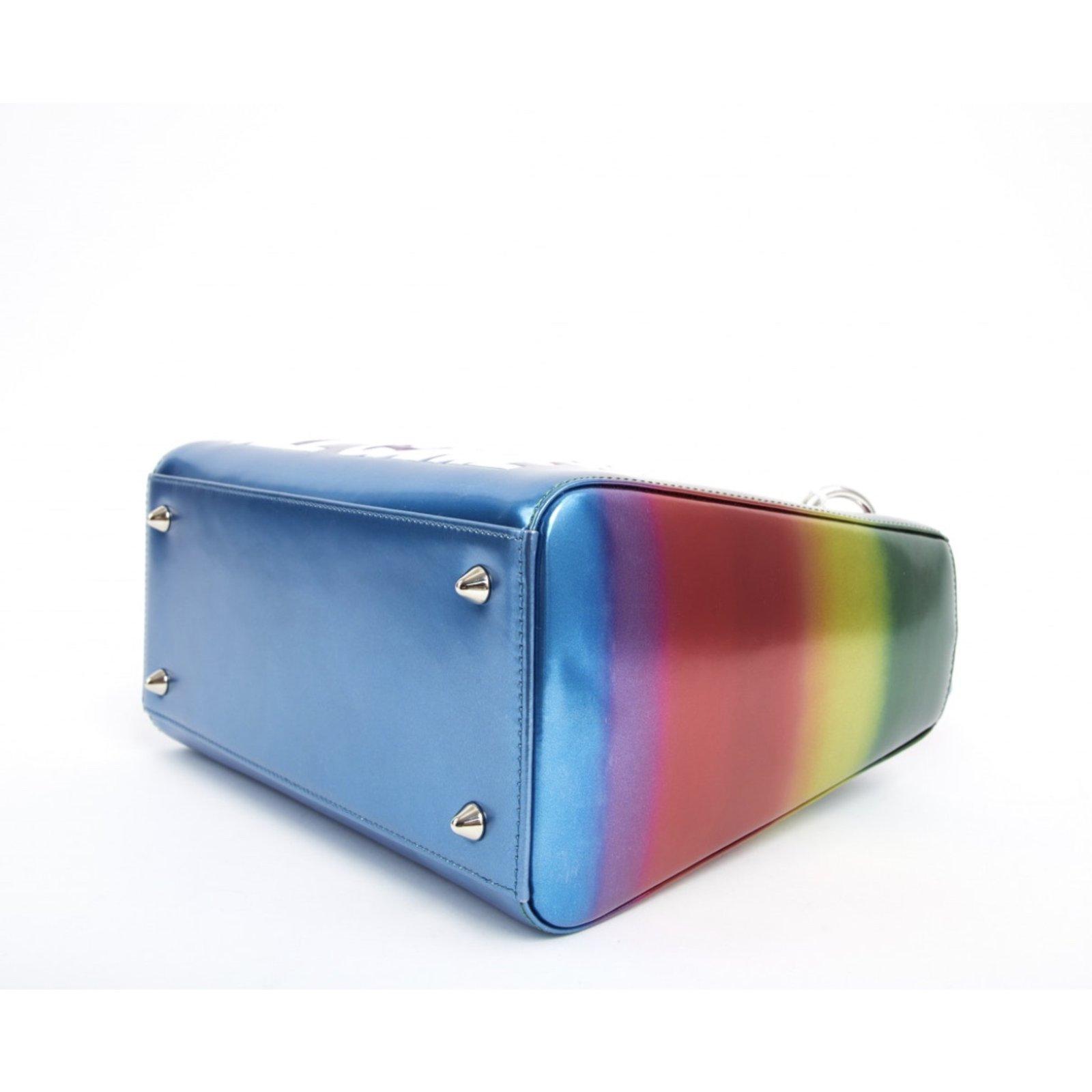 Dior lady Dior rainbow Handbags Leather Multiple colors ref.72248 - Joli  Closet c514028c2c837