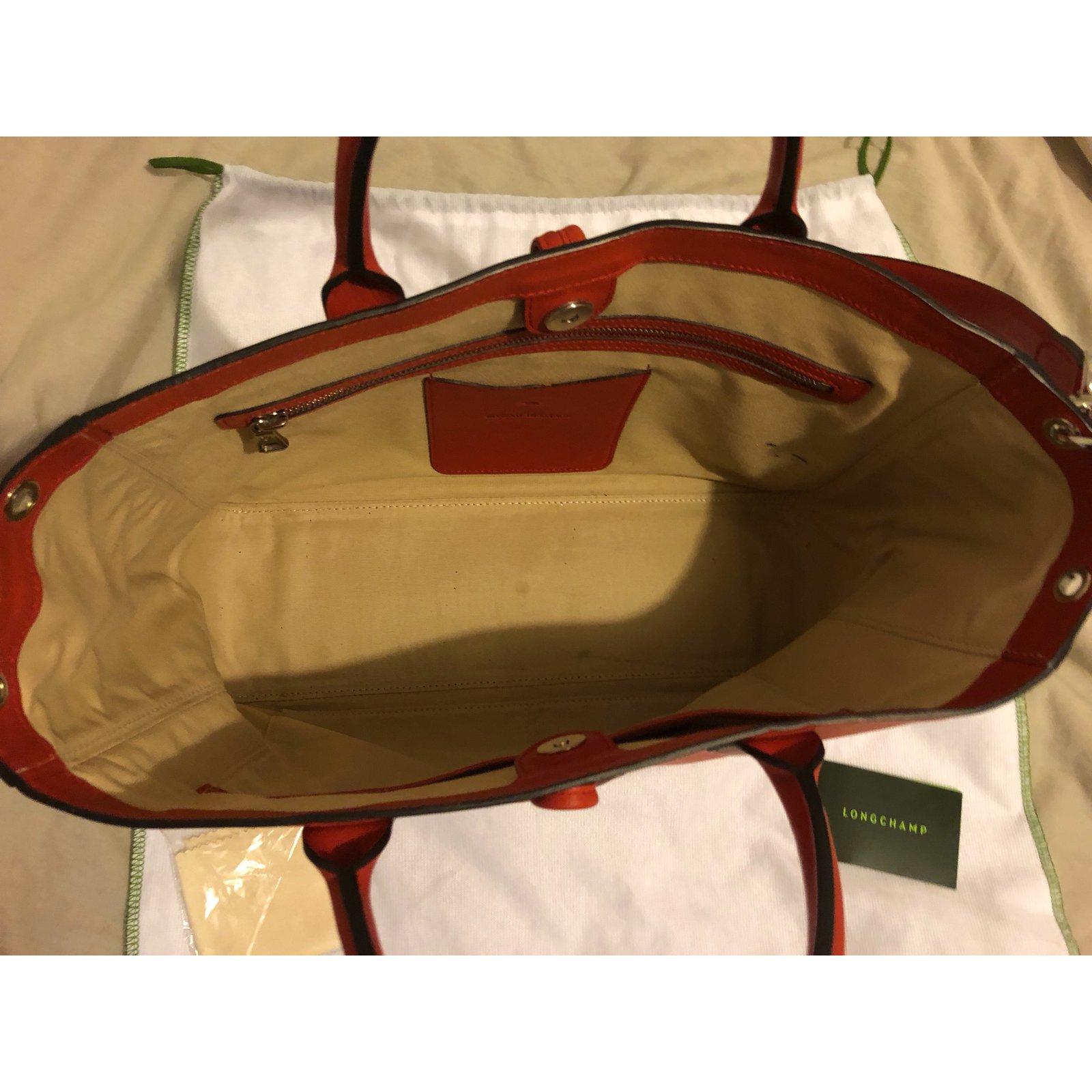Cuir Closet Longchamp Ref 72553 Heritage Joli Main Corail Roseau À Sacs XEqCvv