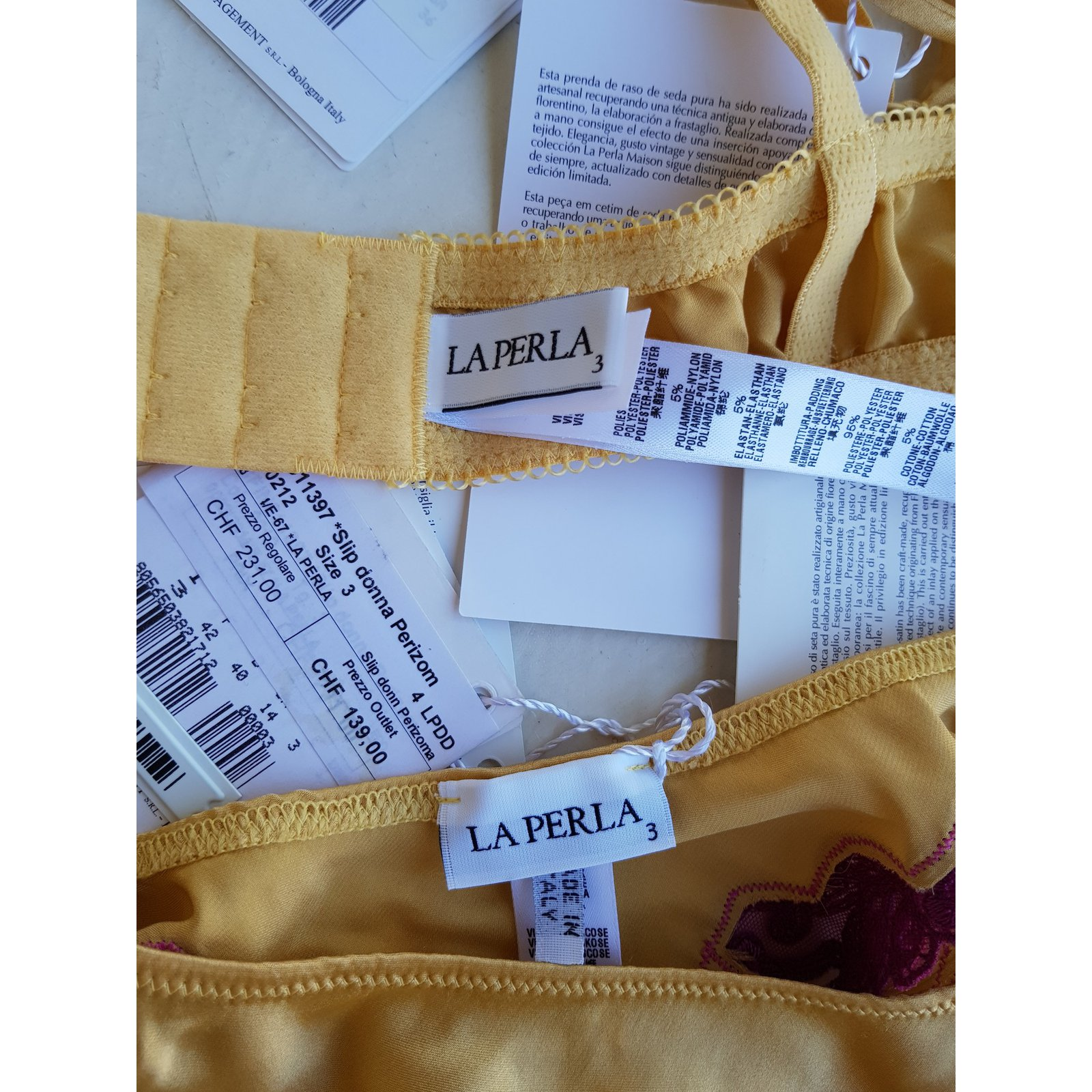 La Perla Intimates Intimates Silk Yellow ref.72883 - Joli Closet