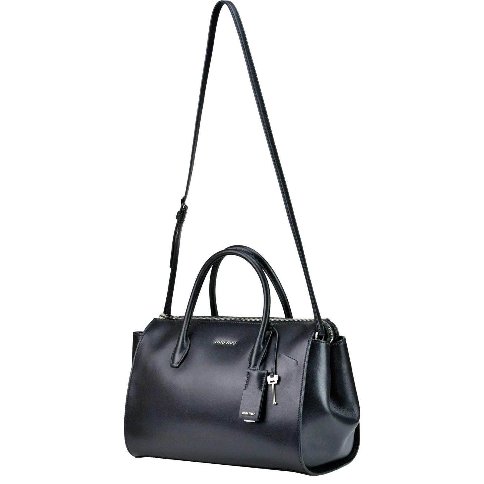 15ec087c1f8c Miu Miu Boston bag miumiu new Handbags Leather Black ref.72916 - Joli Closet