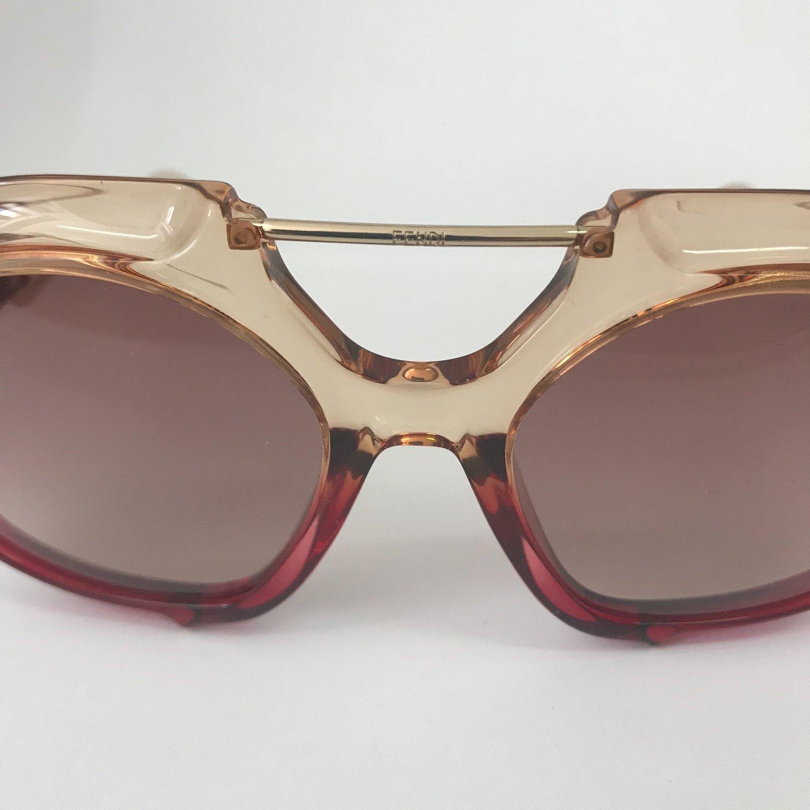 64da75e712c60 Fendi FENDI SUNGLASSS LUNETTES TROPICAL SHINE Pink and red Sunglasses Other  Red ref.72921 - Joli Closet