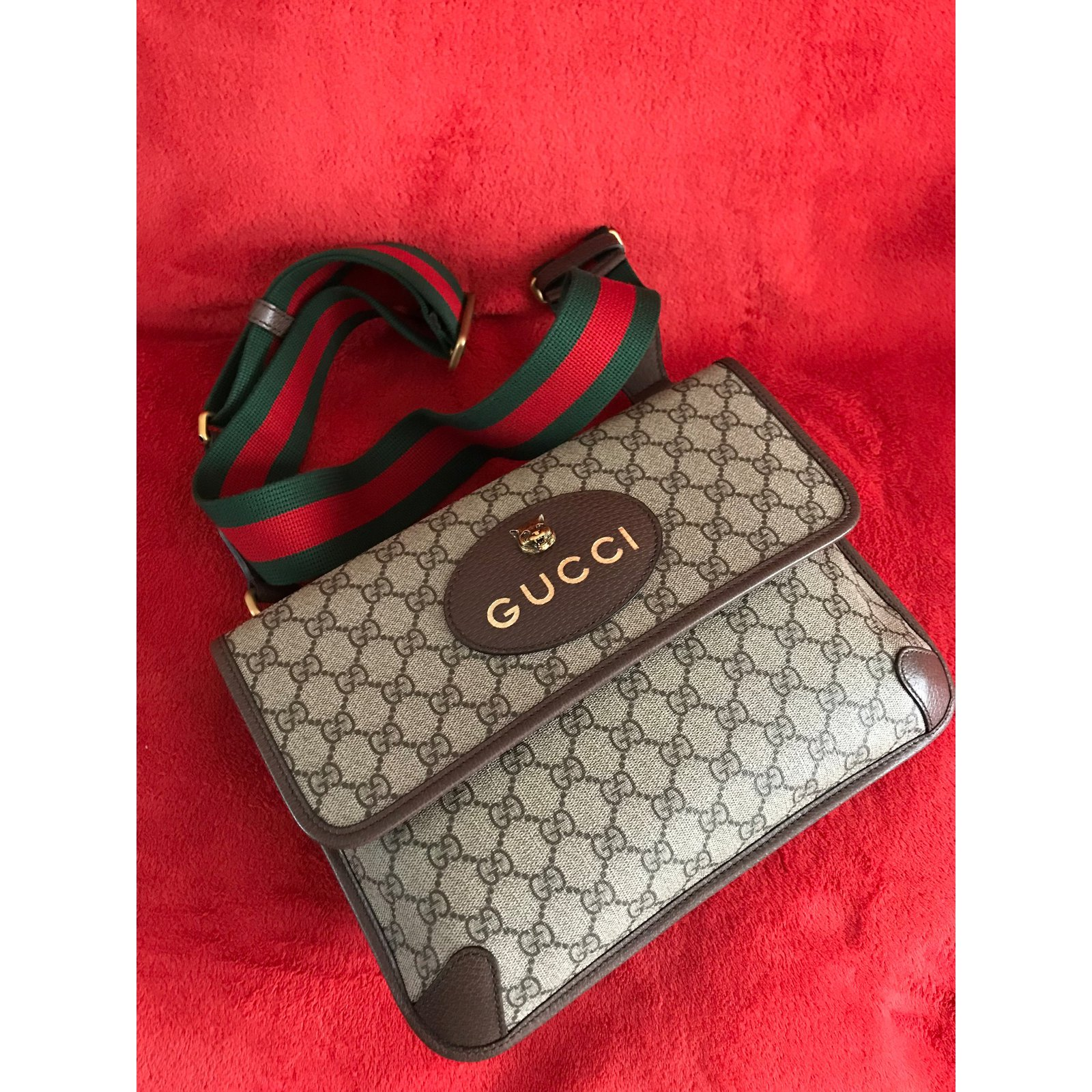 60d55aa4f999 Gucci GG Supreme messenger bag -Style ?495654 Bags Briefcases Cloth  Multiple colors ref.73080 - Joli Closet