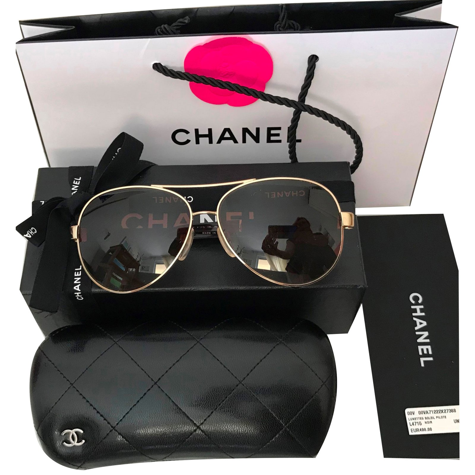 cc40a2e4be Facebook · Pin This. Chanel Sunglasses Sunglasses Metal Golden ref.73392