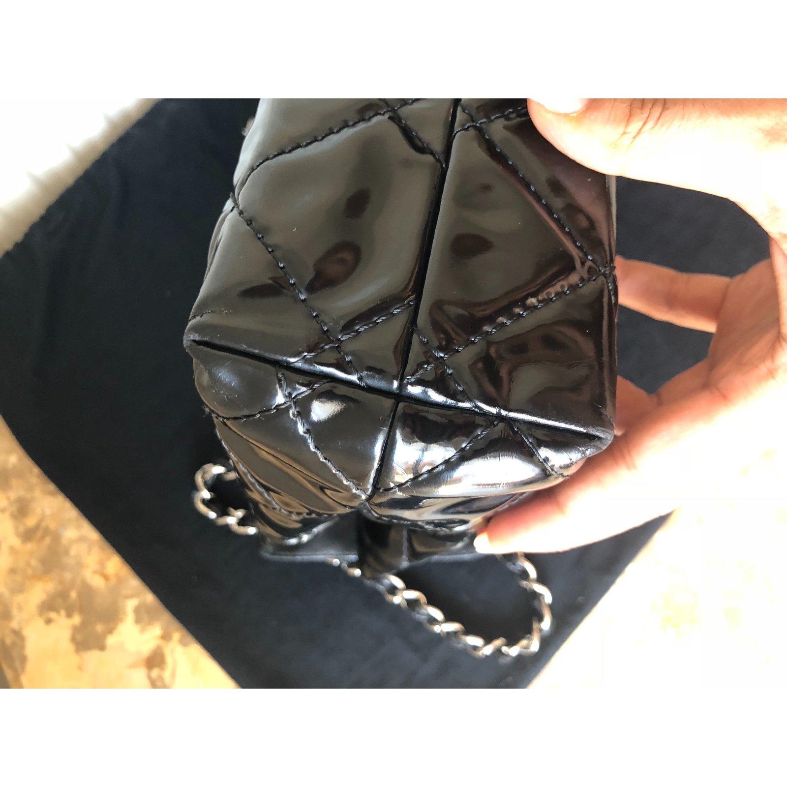 a06f211e73d1 Chanel Business flap maxi bag Handbags Patent leather Black ref.73652 - Joli  Closet