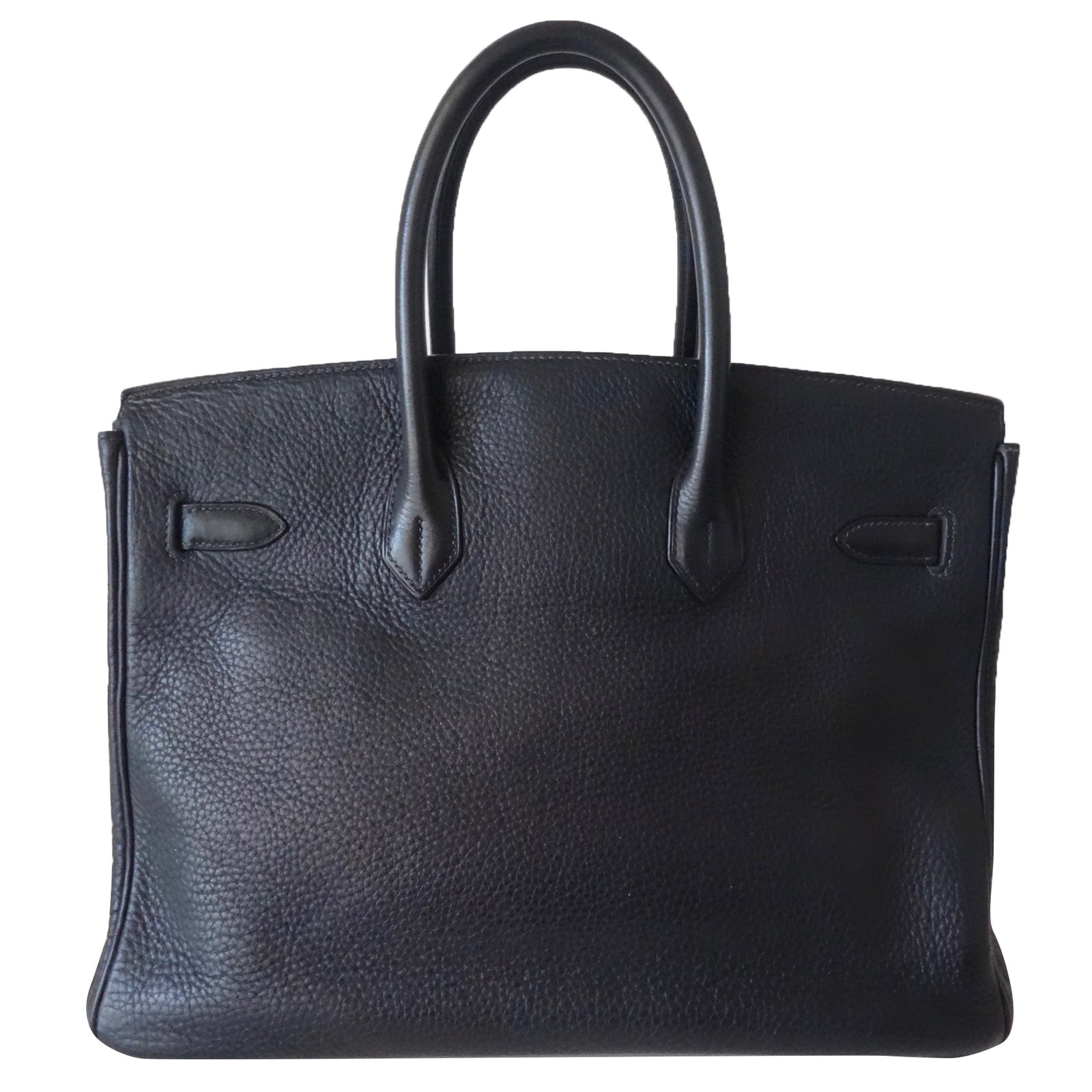 2246f4f9886 Facebook · Pin This. Hermès Birkin 35 Handbags Leather Navy blue ref.73678