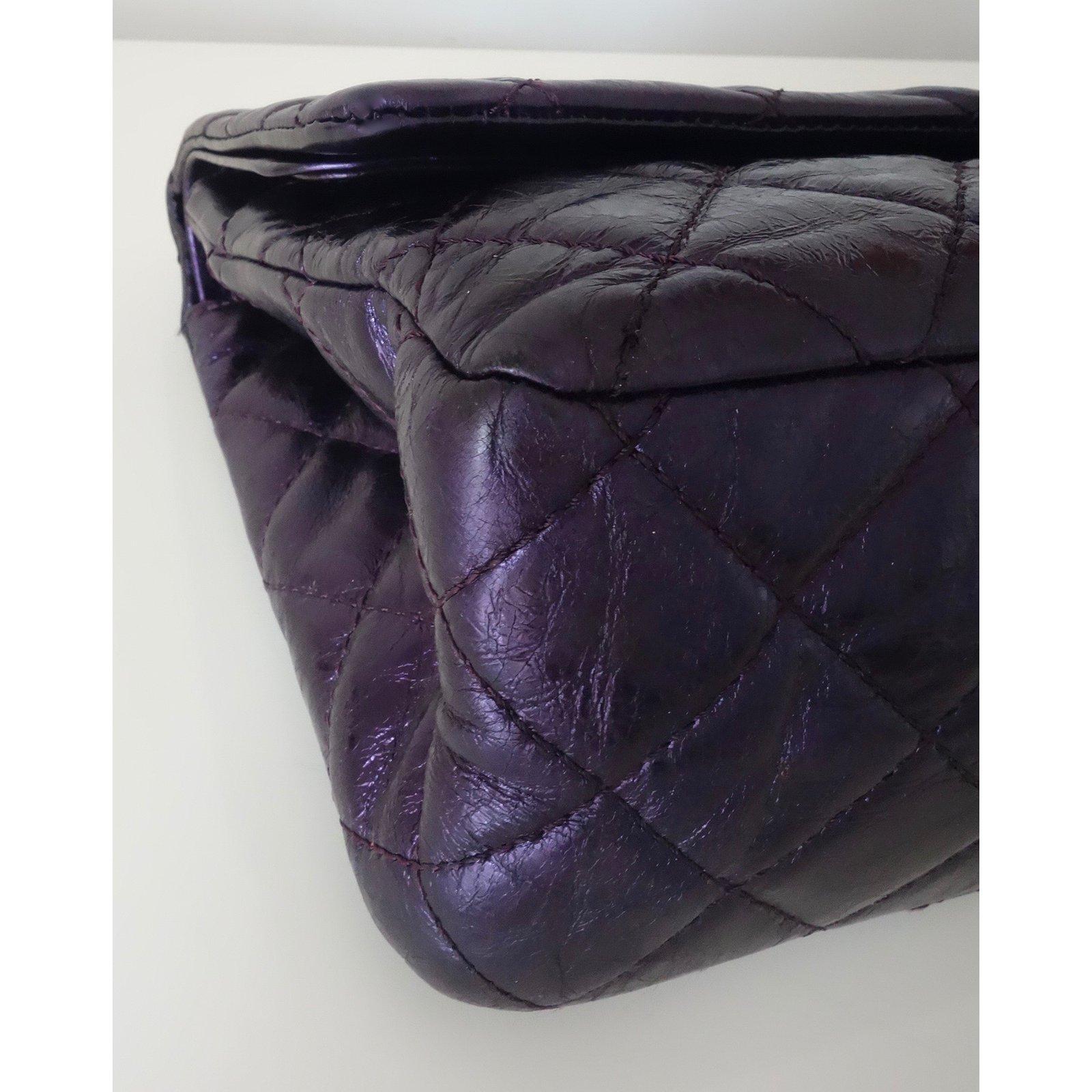 1510abd7ca63f7 Facebook · Pin This. Chanel 2.55 maxi Handbags Leather Purple ...