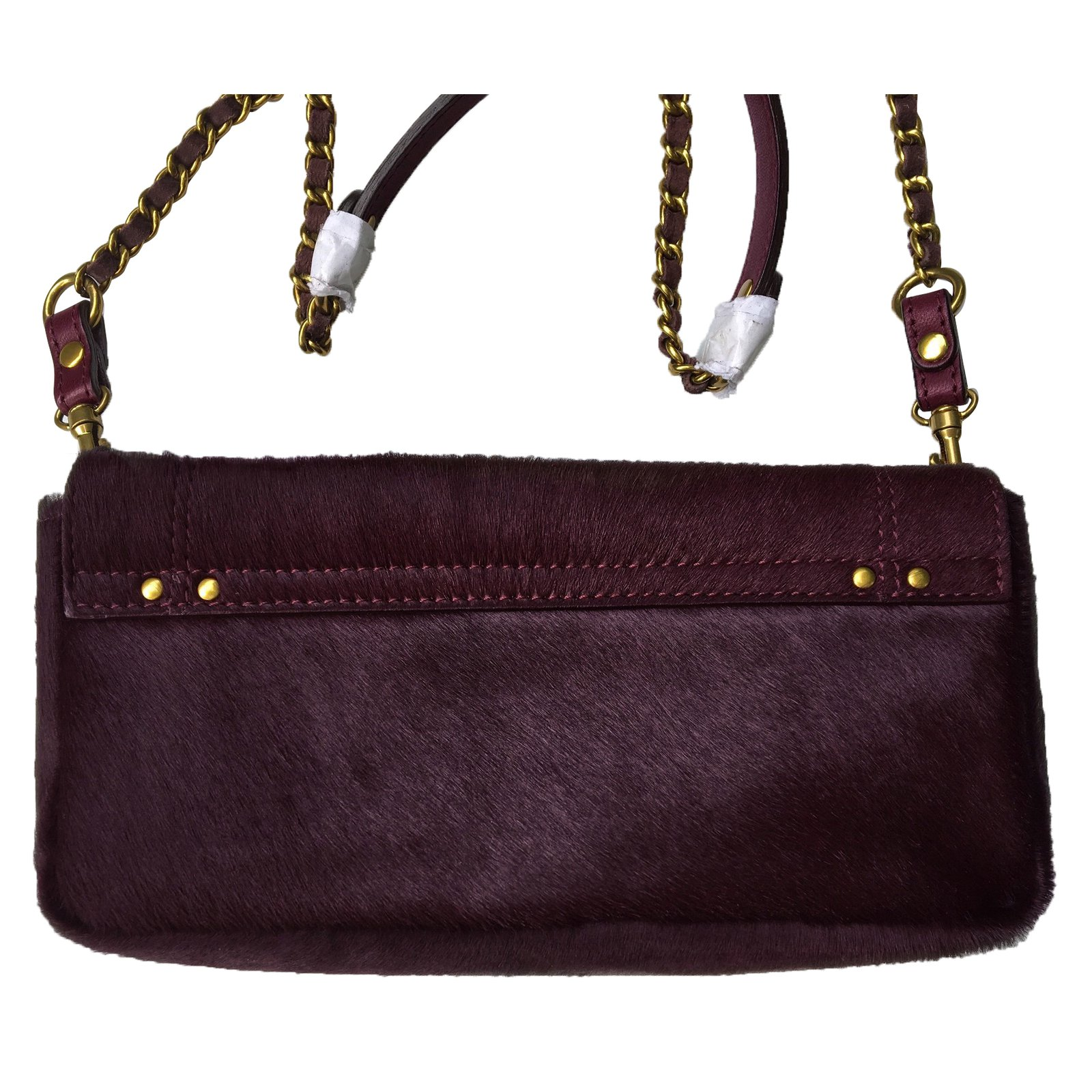993451ae23a85 Jerome Dreyfuss BOB Handbags Pony-style calfskin Dark red ref.74269 - Joli  Closet
