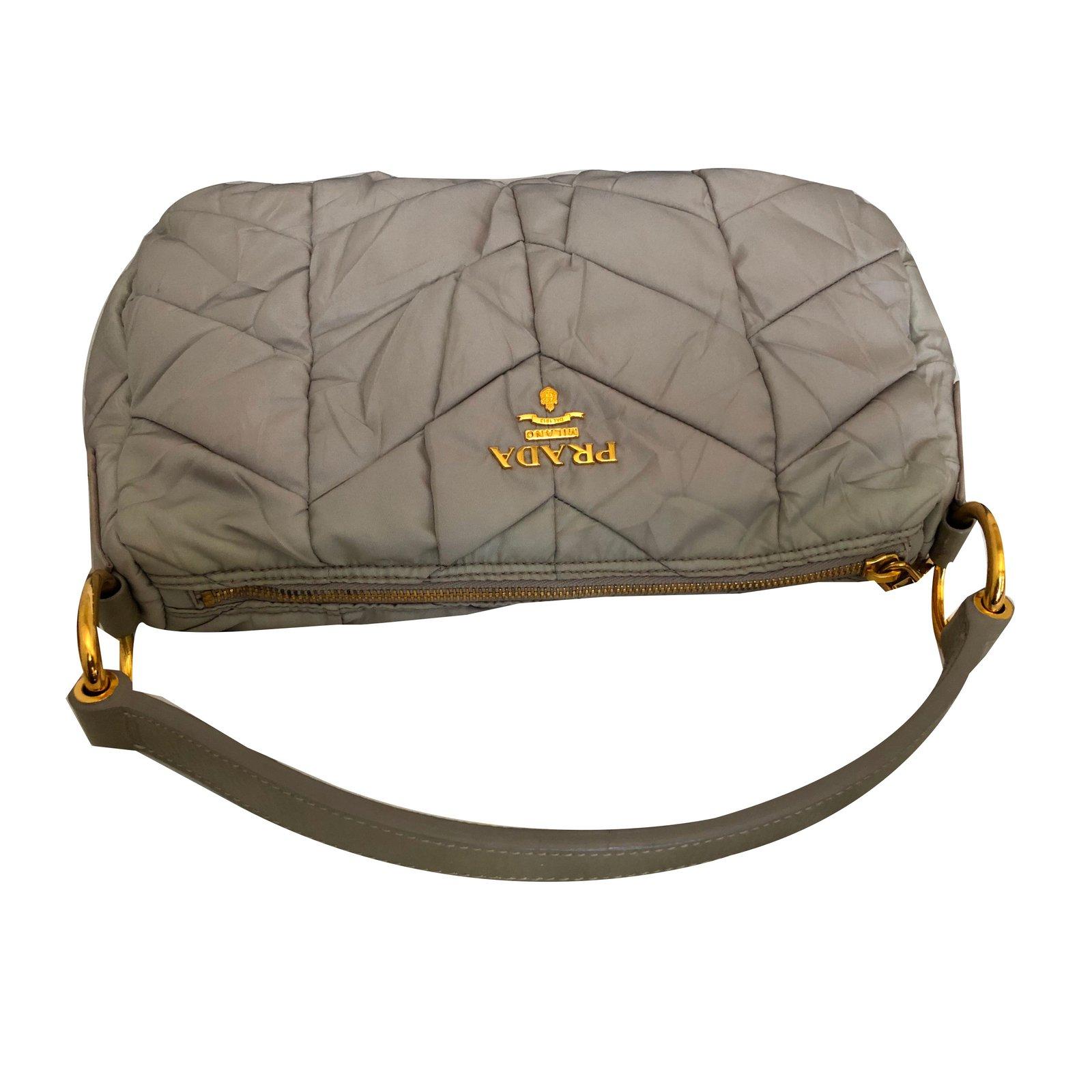 da8a9f044c42 ... clearance prada bag handbags patent leather taupe ref.74291 joli closet  18bfb dc3cd