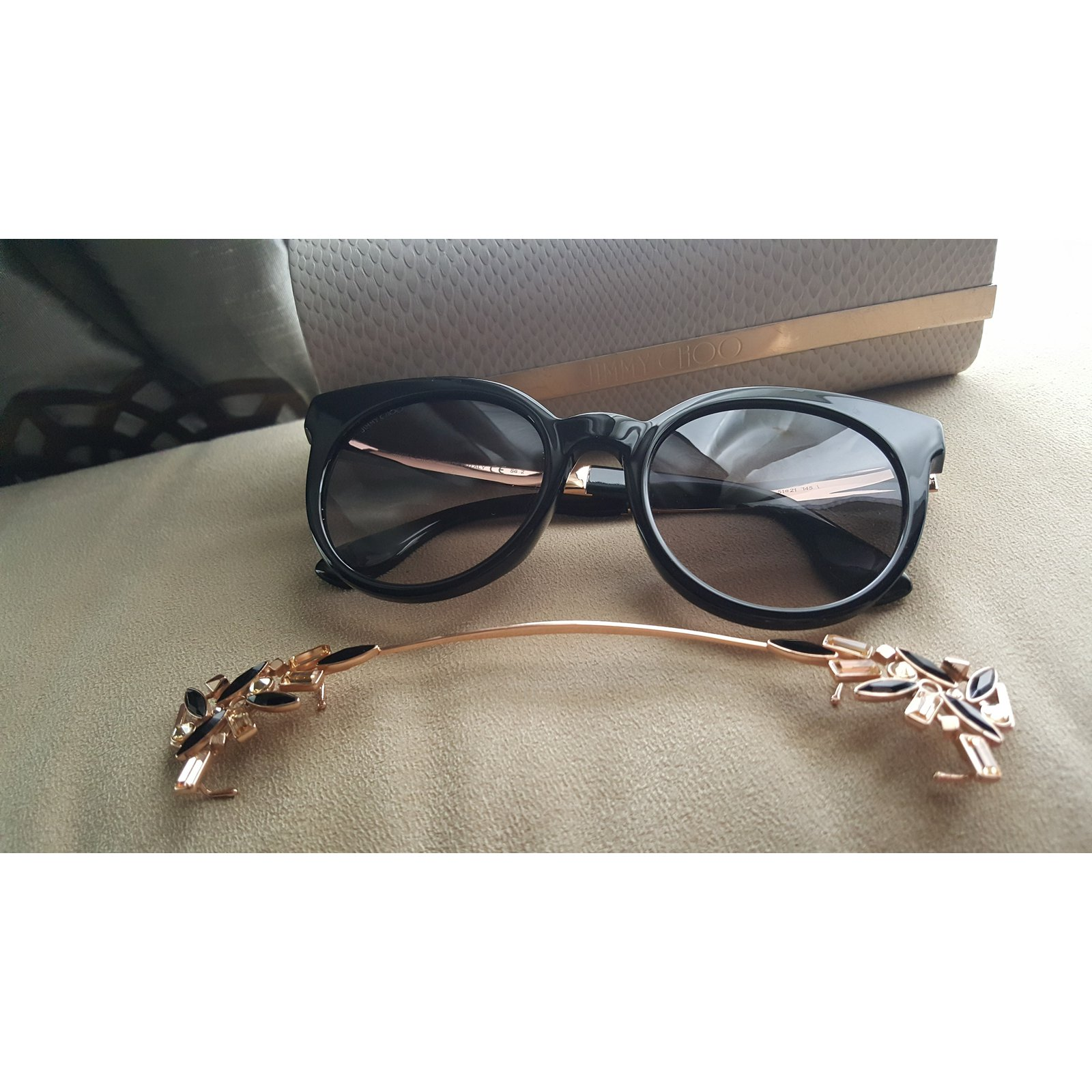 6c5e548e6e10 Jimmy Choo VIVY Sunglasses Acetate Black ref.74536 - Joli Closet