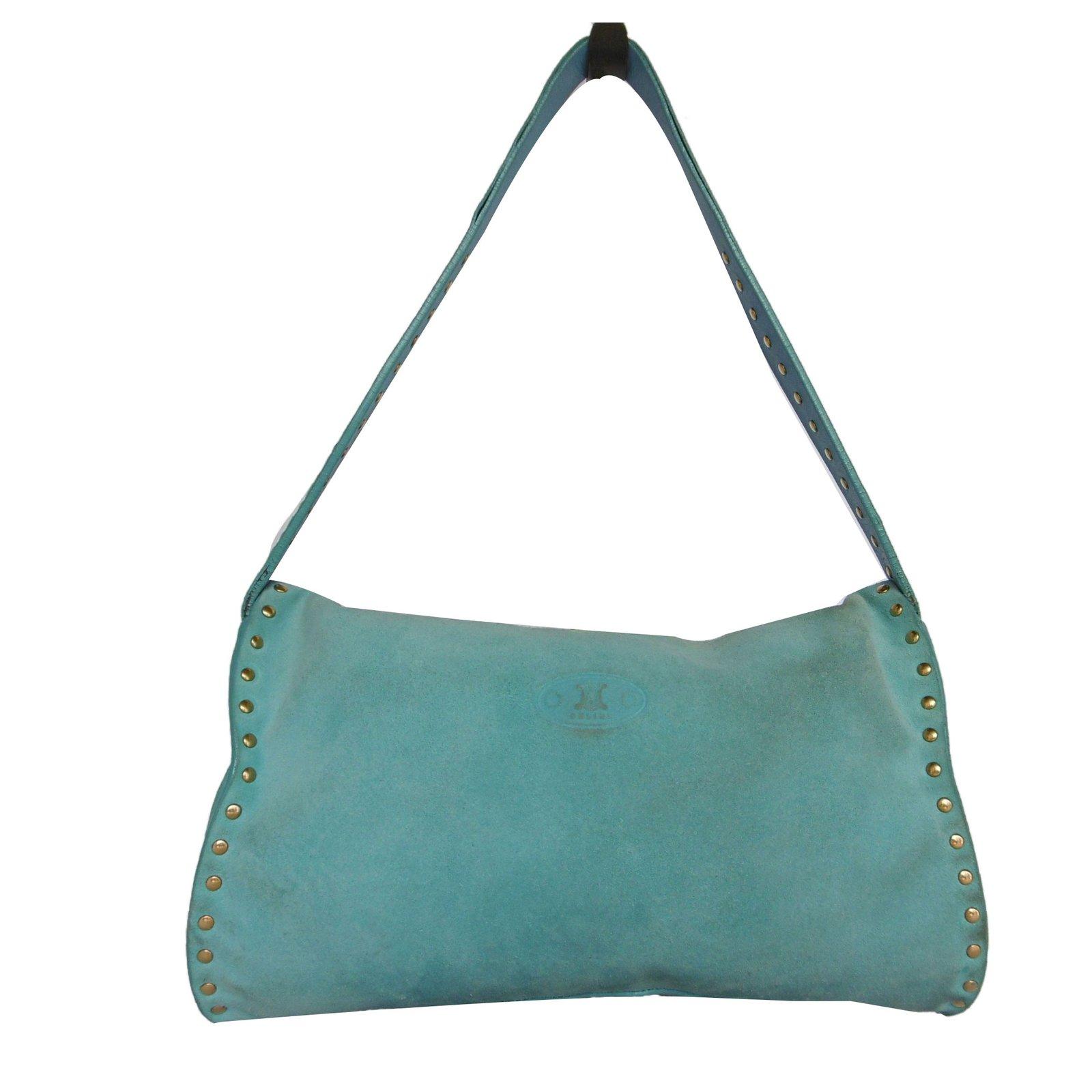 0981f014b5 Céline Shoulder bag Handbags Suede Blue ref.74631 - Joli Closet