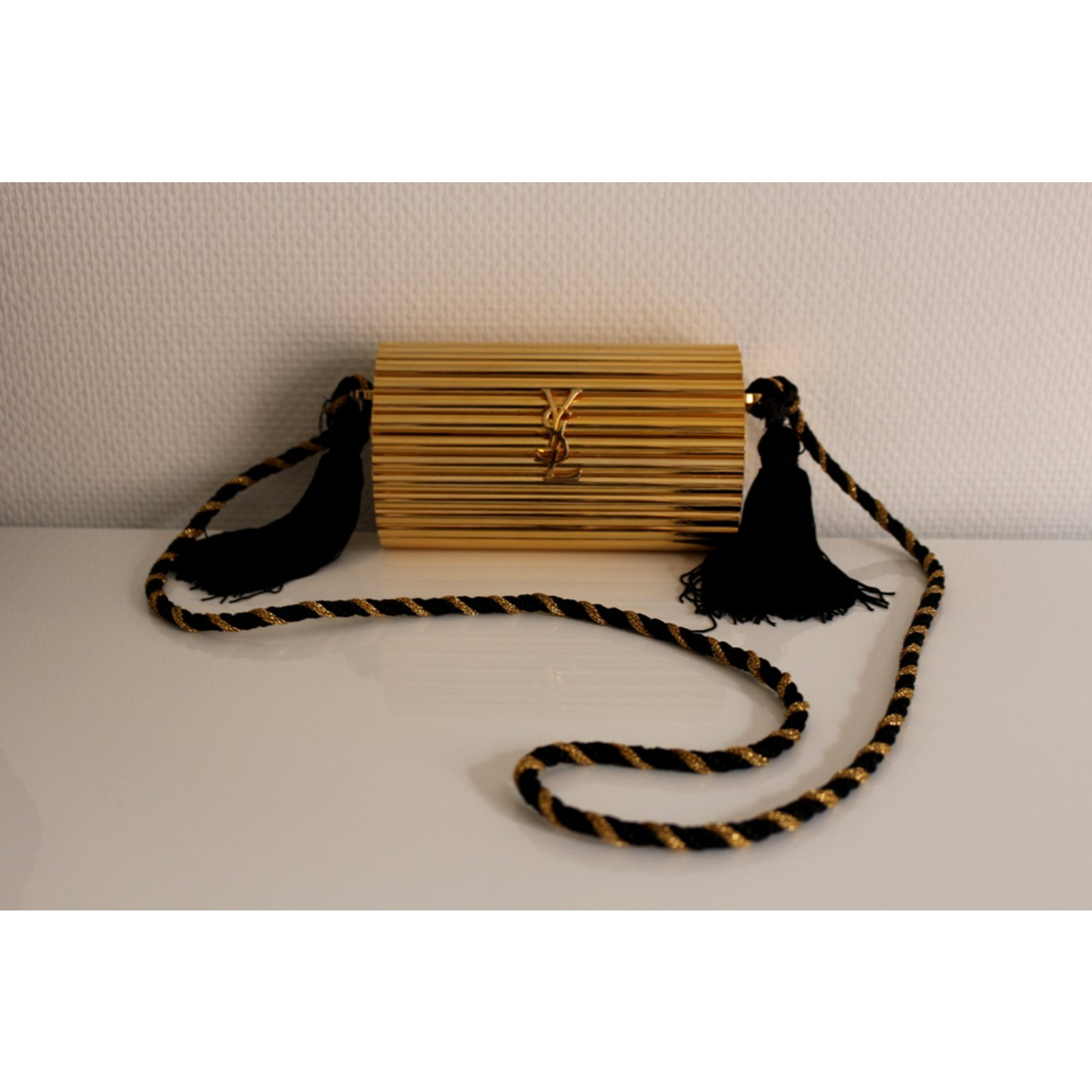 e991f7eb86c92 Yves Saint Laurent Bag Handbags Plastic Golden ref.74739 - Joli Closet