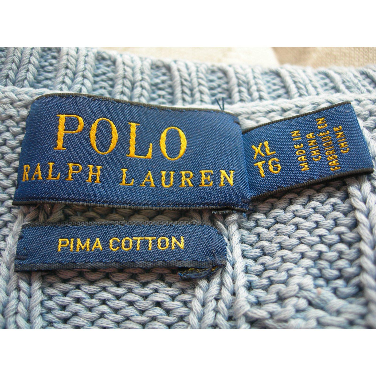 7b43852aea1 Ralph Lauren Knitwear Knitwear Cotton Blue ref.74923 - Joli Closet