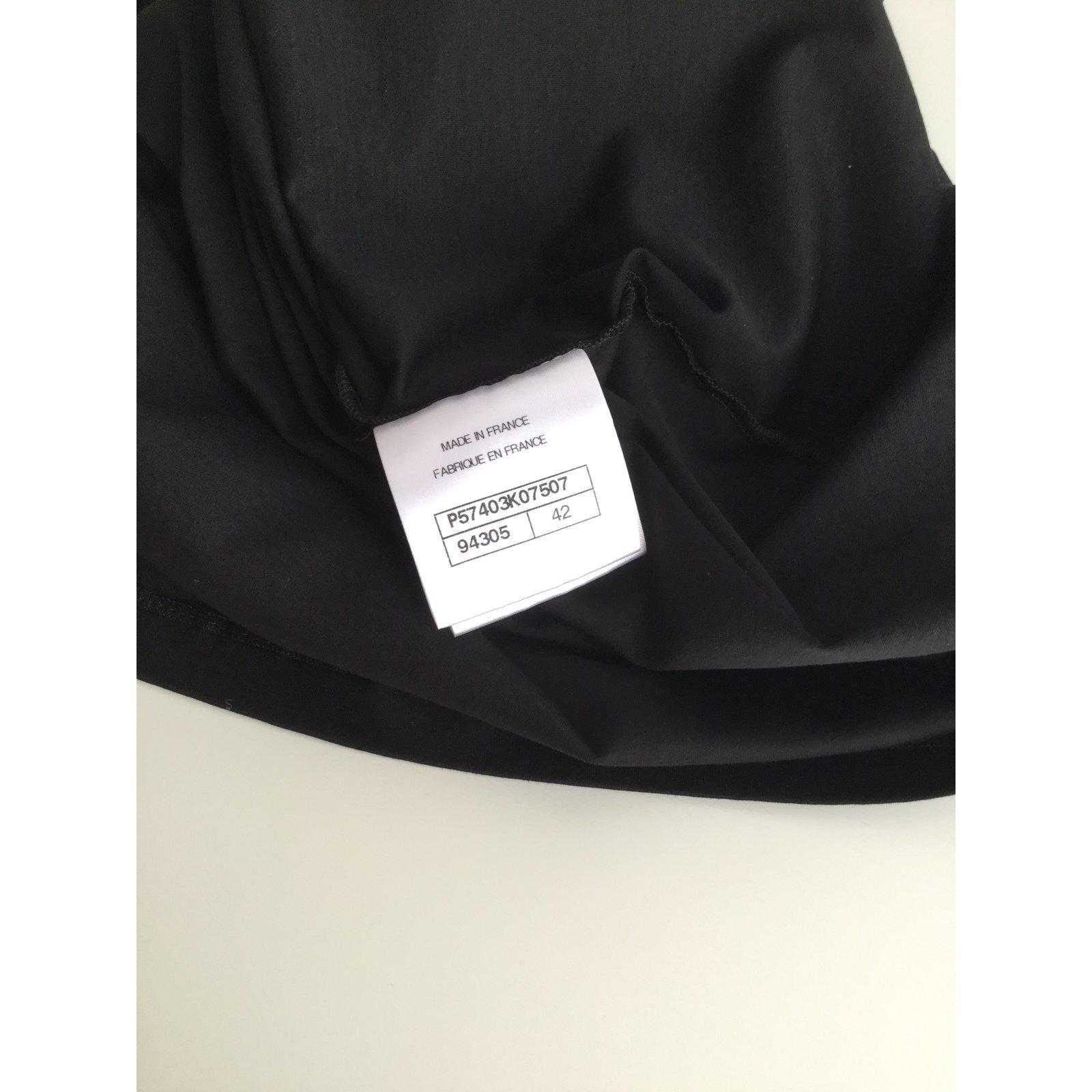 3943f490fc9dba Chanel Tops Tops Cotton Black ref.74969 - Joli Closet