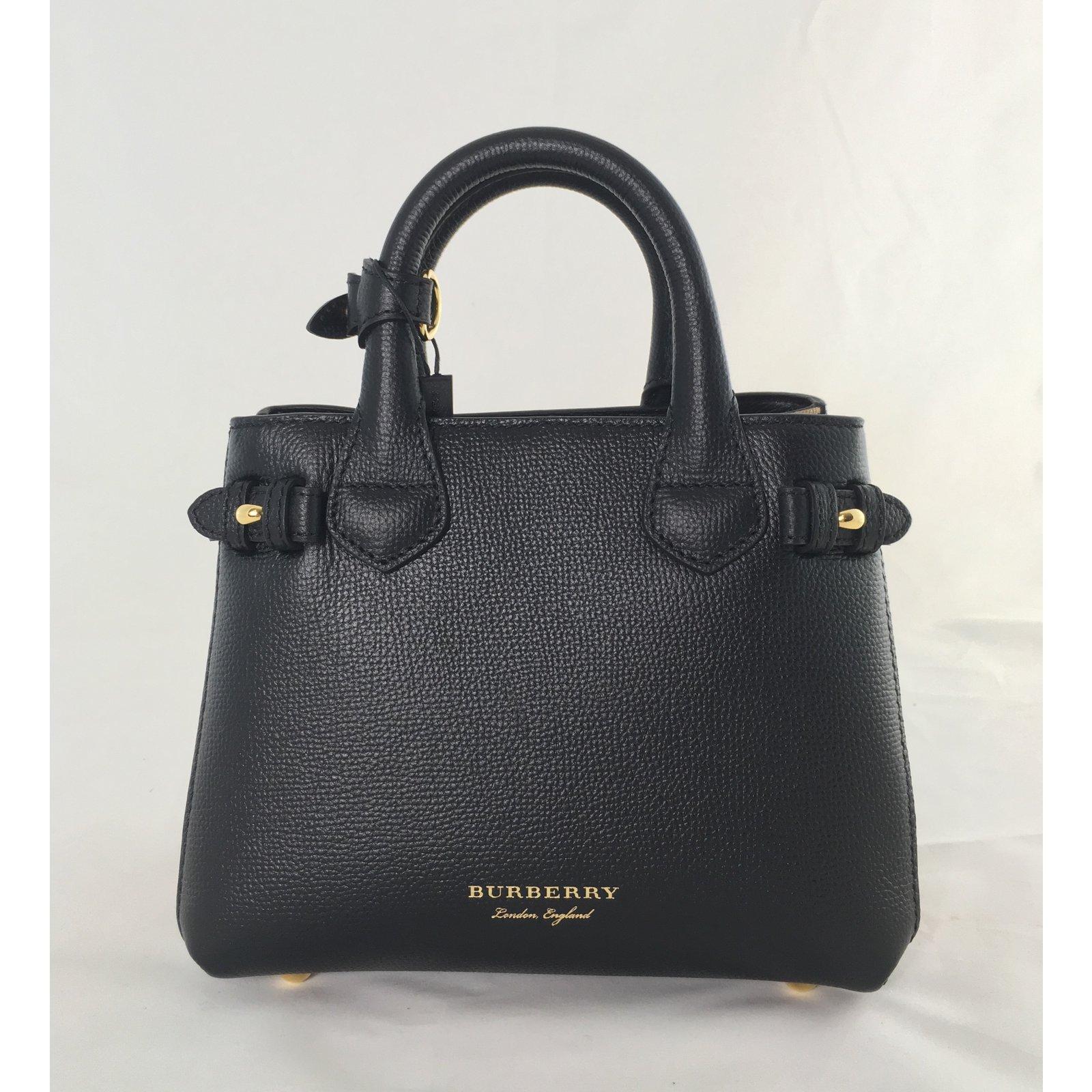 Burberry Baby Banner Handbags Leather Black ref.75108 - Joli Closet 9f8b11701d