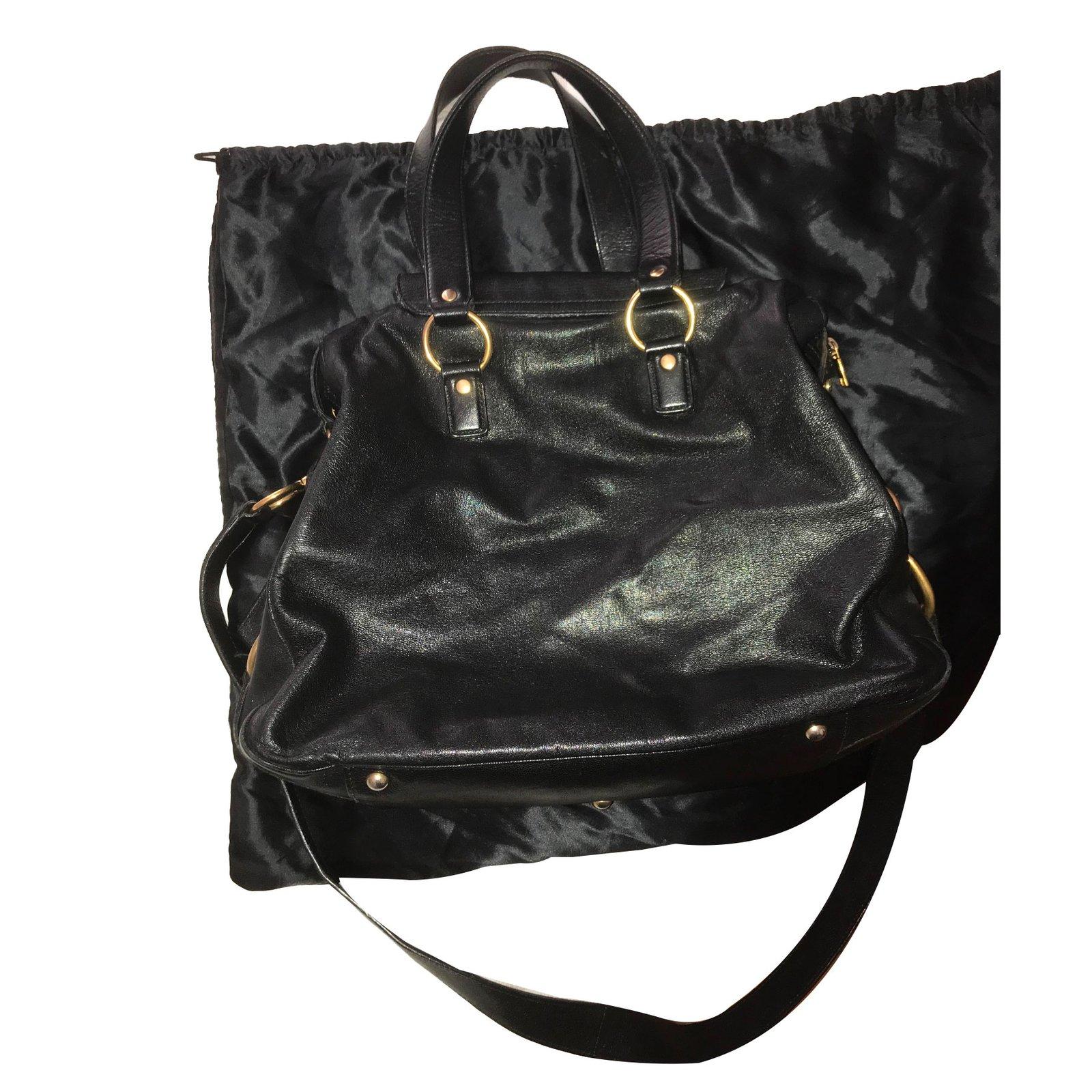 Yves Saint Laurent Handbags Handbags Leather Black ref.75176 - Joli ... 391e70a8dd