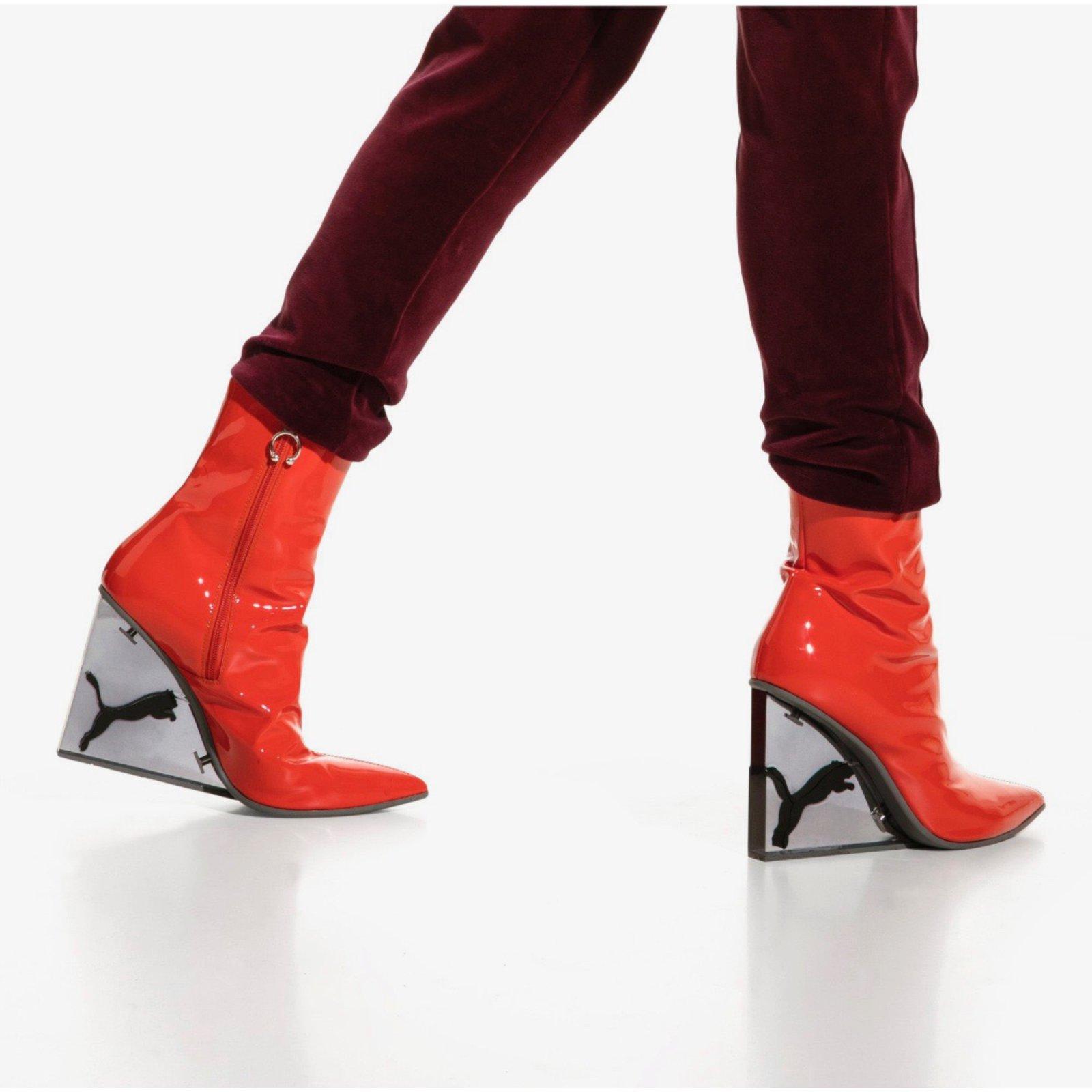 Puma Fenty By Ankle Boots Patent Leather Orange Ref75563 Maroon Joli Closet