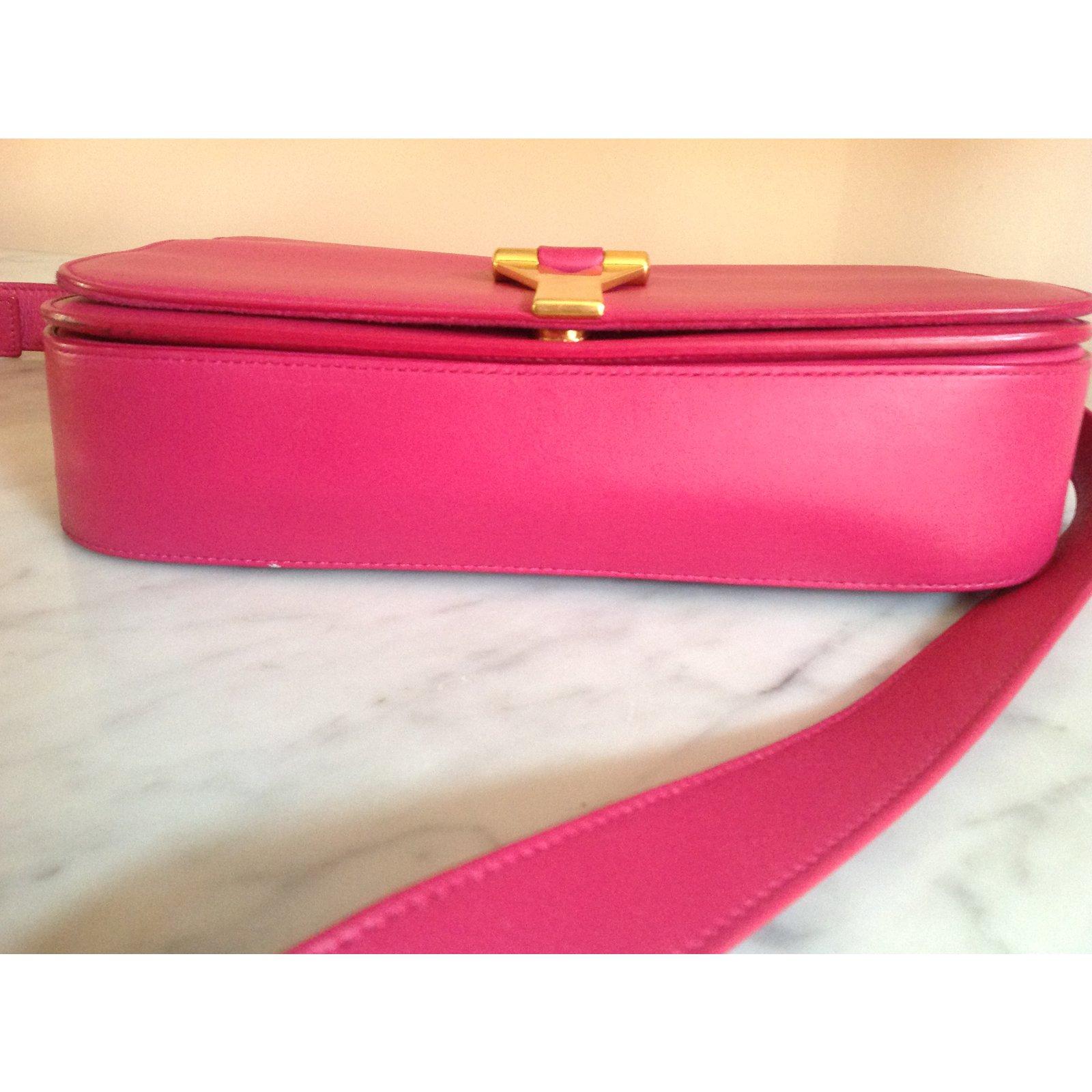 b69f32dc55 Facebook · Pin This. Yves Saint Laurent Bag Handbags Leather Pink ref.75778
