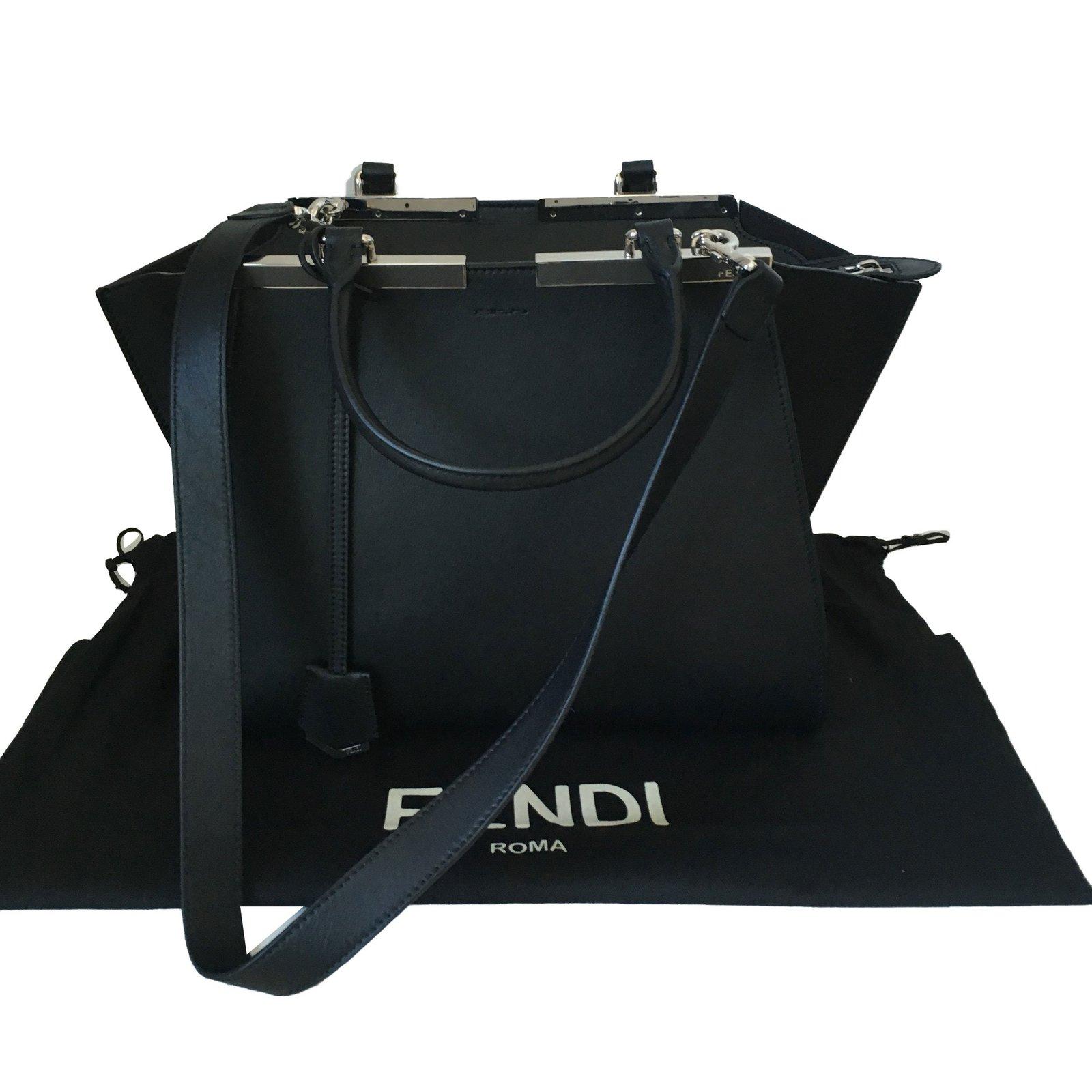 1a2ba910df Fendi 3 Jours Handbags Leather Black ref.75819 - Joli Closet