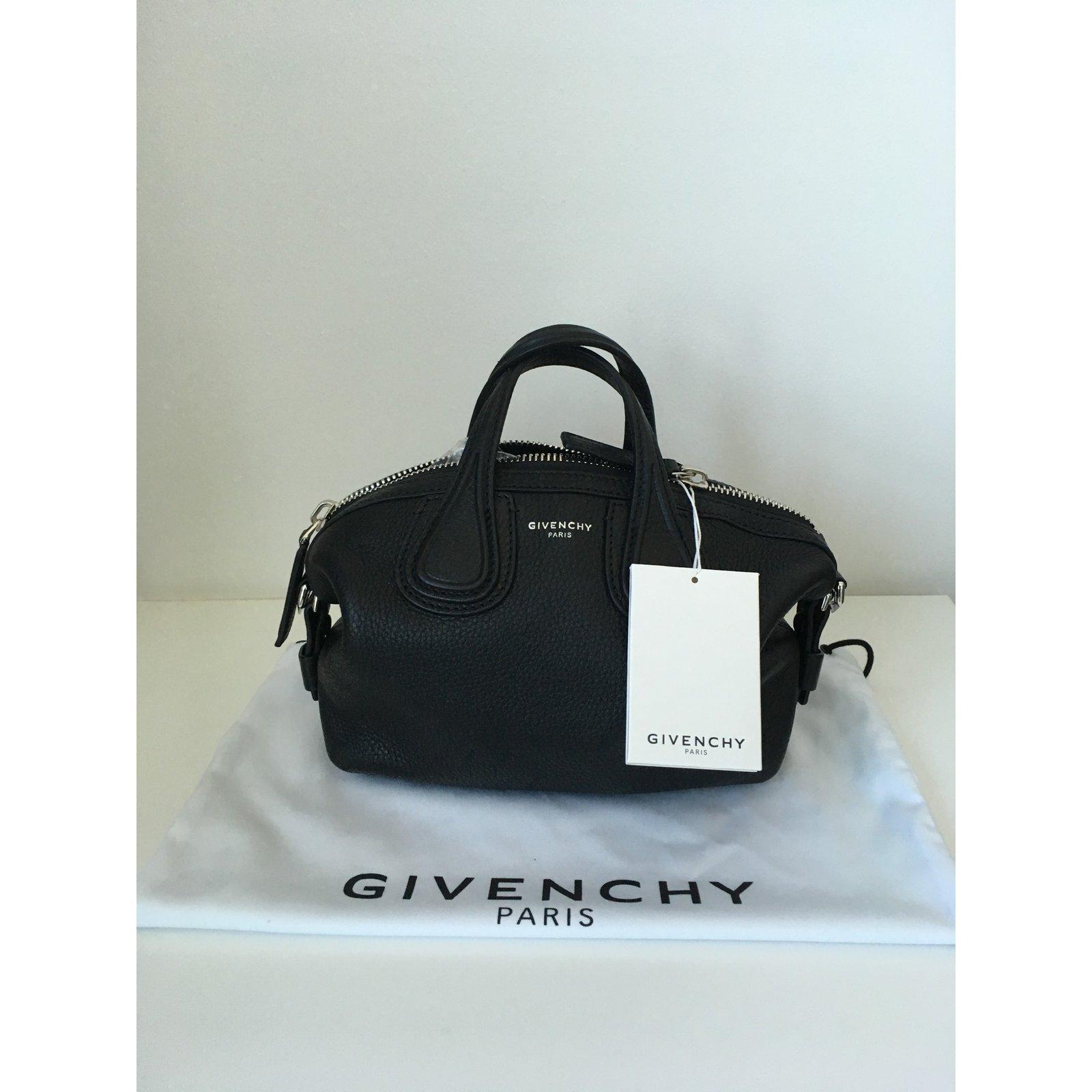68772c9795 Givenchy Nightingale Mini Bag Handbags Leather Black ref.76067 - Joli Closet
