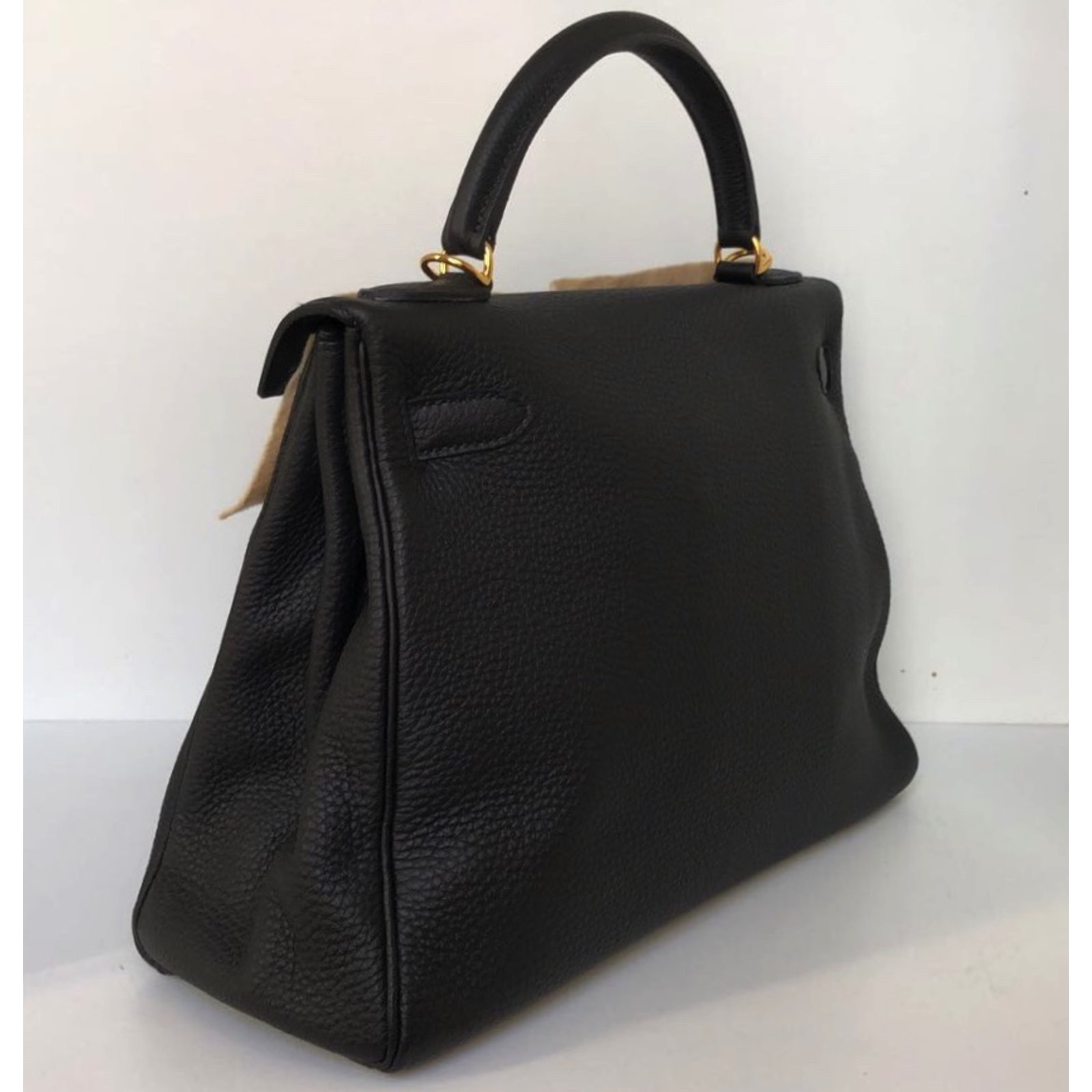 89a3bc5a2fe7 Hermès Kelly 32 Handbags Leather Black ref.76124 - Joli Closet